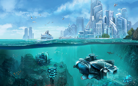 Anno 2070 - Deep Ocean desktop wallpaper or background 03
