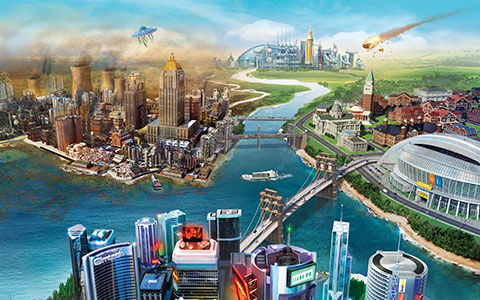 SimCity desktop wallpaper or background 01
