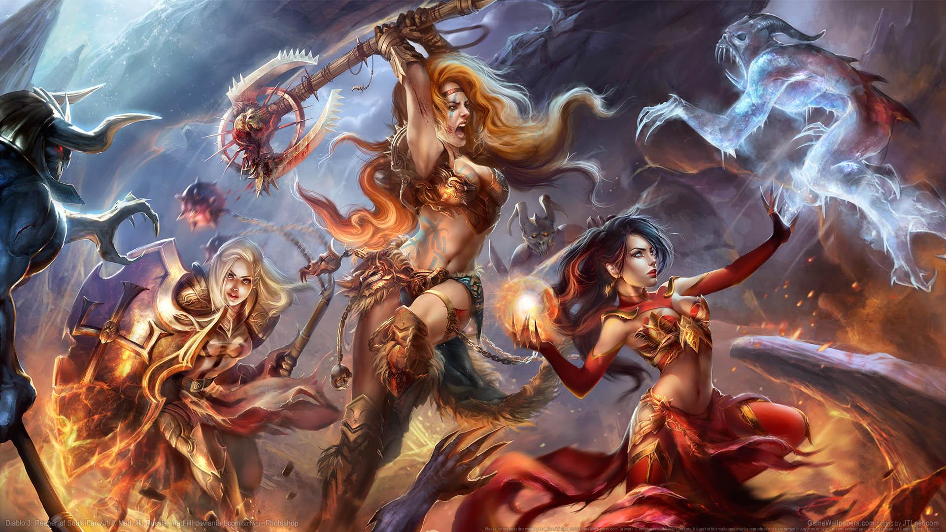 Diablo 3 Reaper Of Souls Fan Art Wallpaper 04 1920x1080