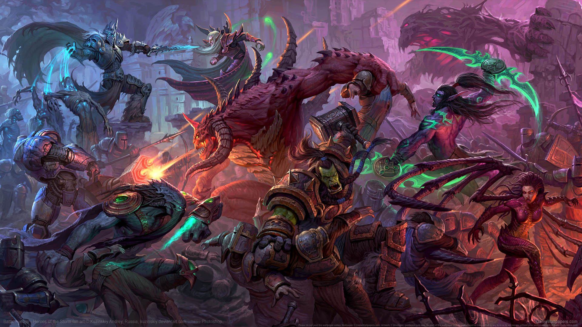heroes of the storm wallpaper iphone