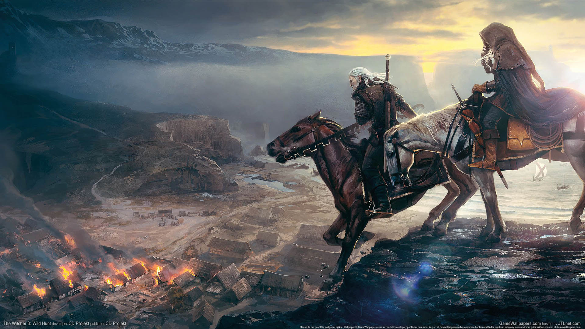 The Witcher 3 Wallpaper 1920x1080: The Witcher 3: Wild Hunt Wallpaper 02 1920x1080