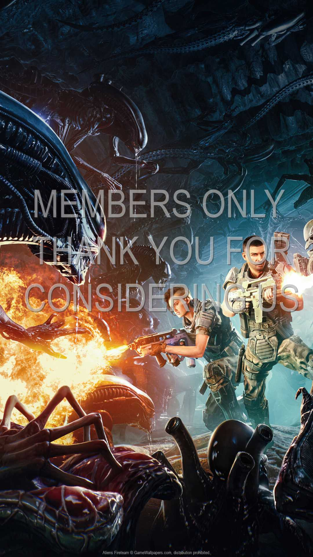 Aliens: Fireteam 1080p Vertical Mobile fond d'écran 01