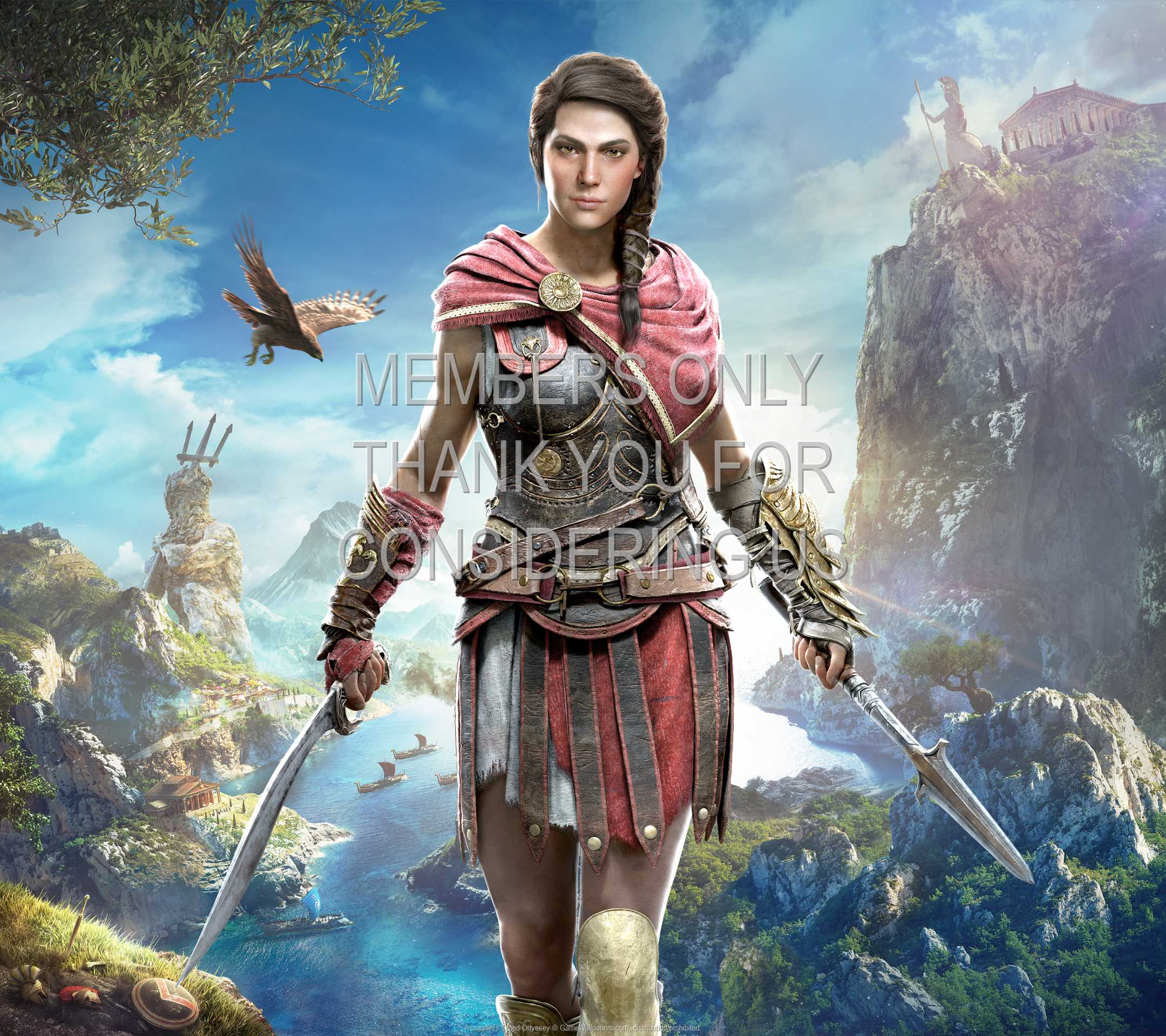 Assassin's Creed: Odyssey 1080p Horizontal Mobiele achtergrond 04