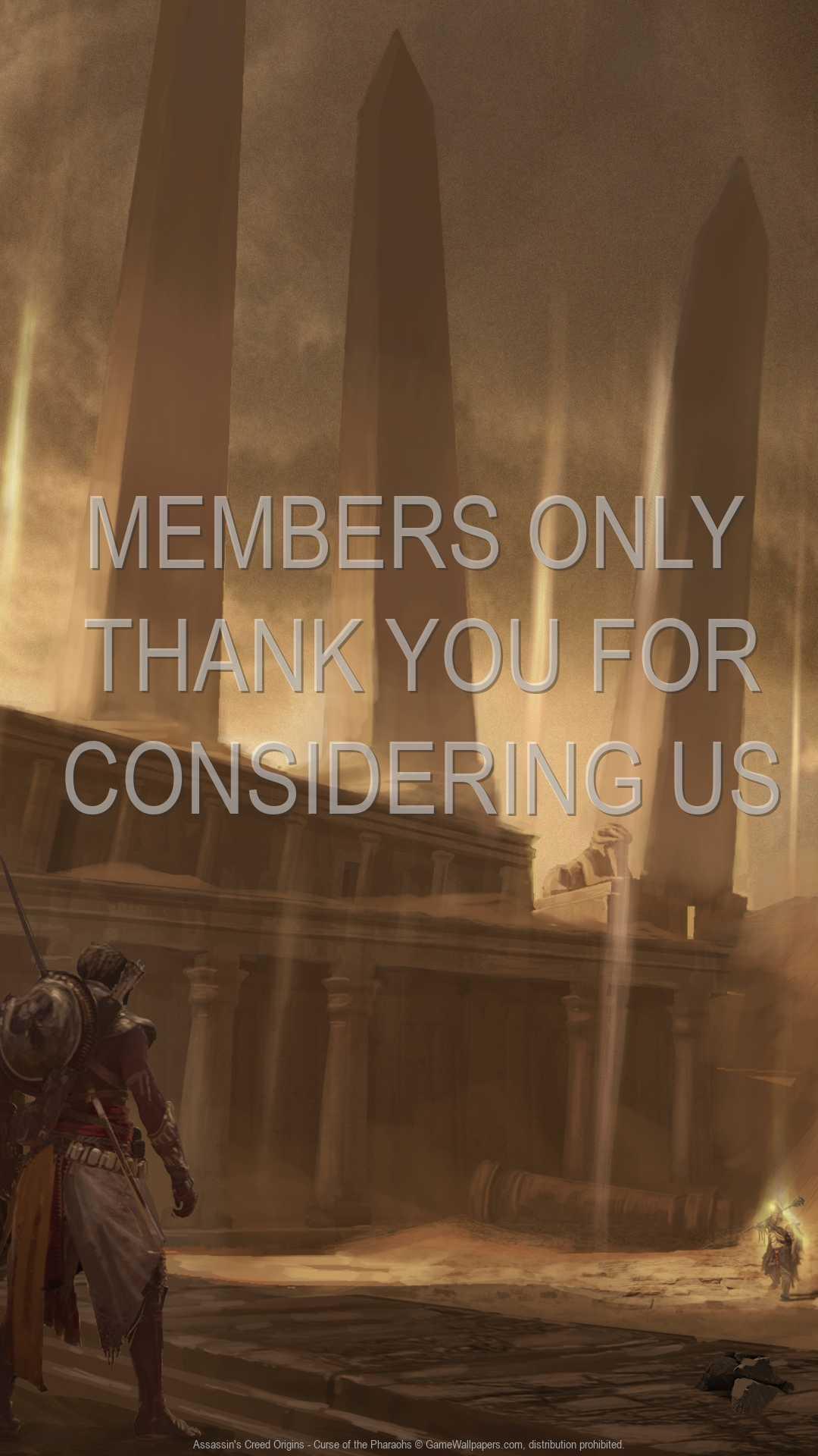 Assassin's Creed: Origins - Curse of the Pharaohs 1080p Vertical Handy Hintergrundbild 04