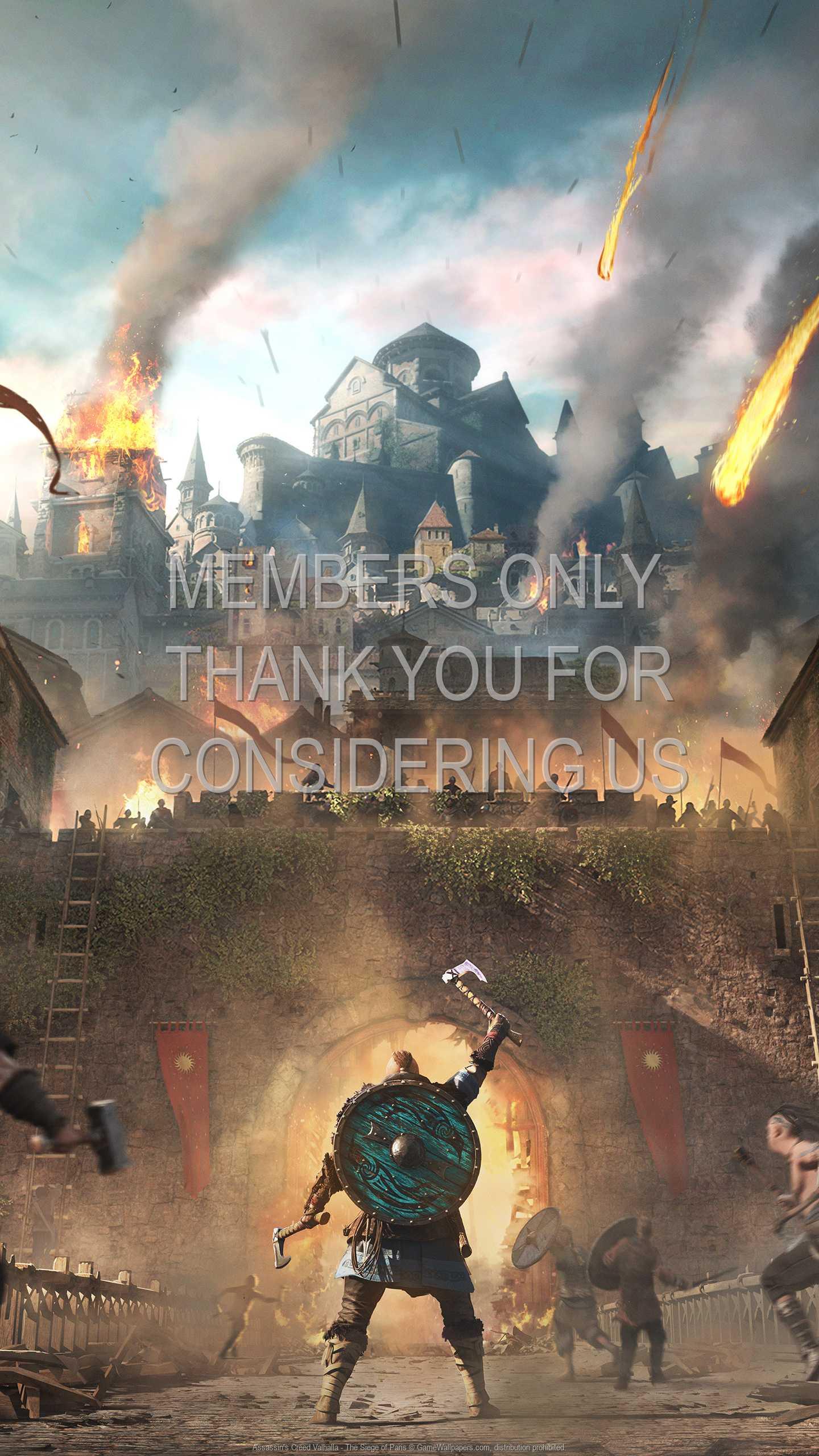 Assassin's Creed: Valhalla - The Siege of Paris 1440p Vertical Móvil fondo de escritorio 01