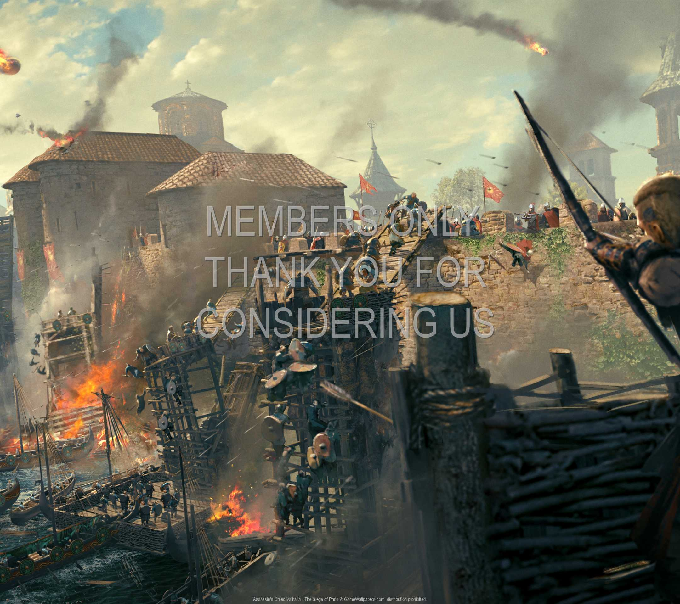 Assassin's Creed: Valhalla - The Siege of Paris 1080p Horizontal Mobiele achtergrond 02