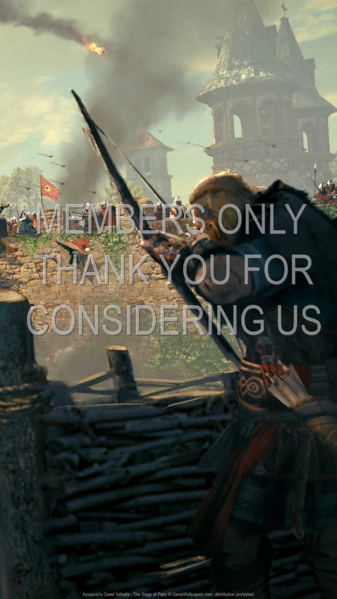 Assassin's Creed: Valhalla - The Siege of Paris 1080p Vertical Mobiele achtergrond 02