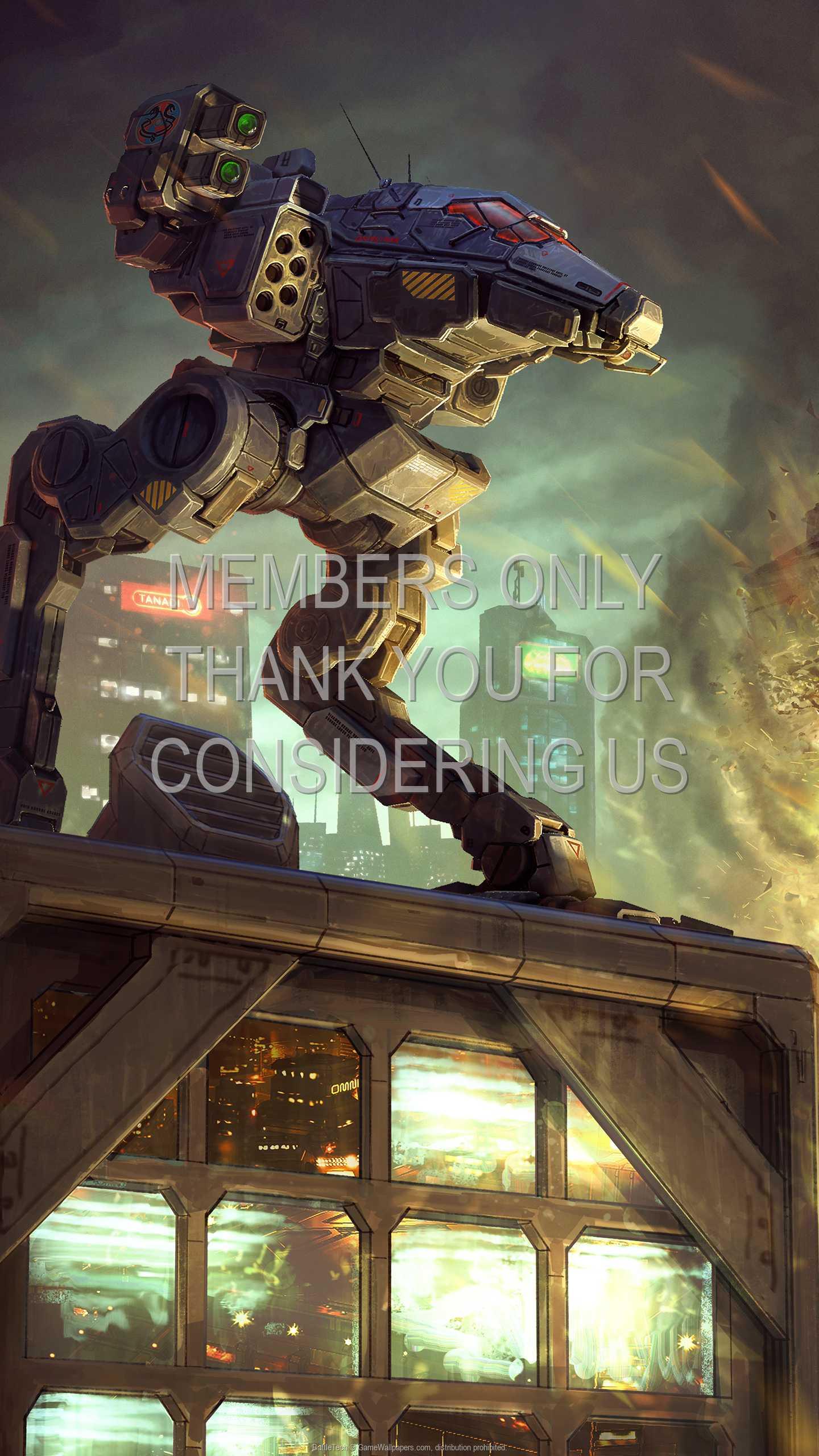 BattleTech 1440p Vertical Handy Hintergrundbild 02