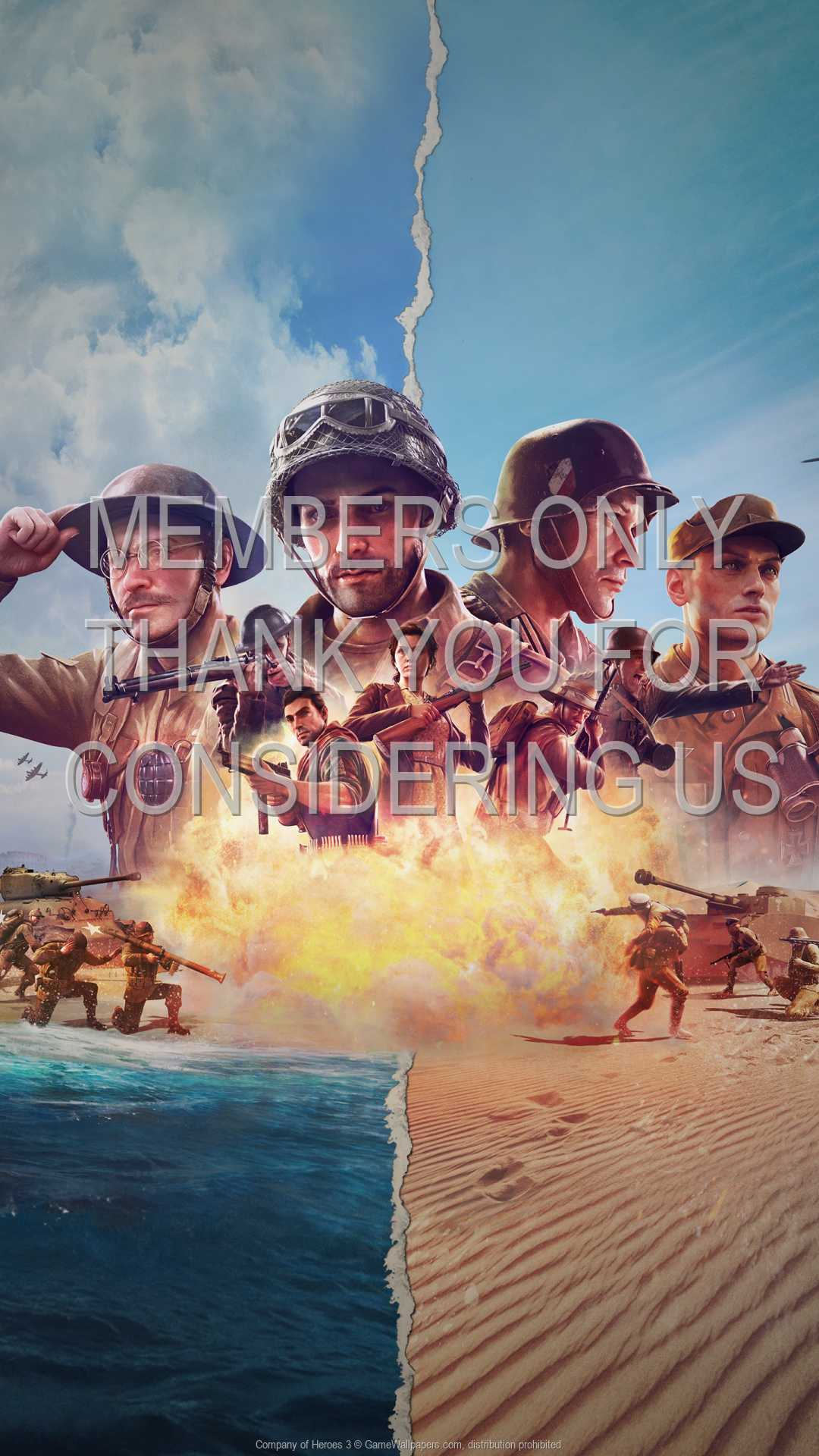 Company of Heroes 3 1080p Vertical Mobile fond d'écran 01