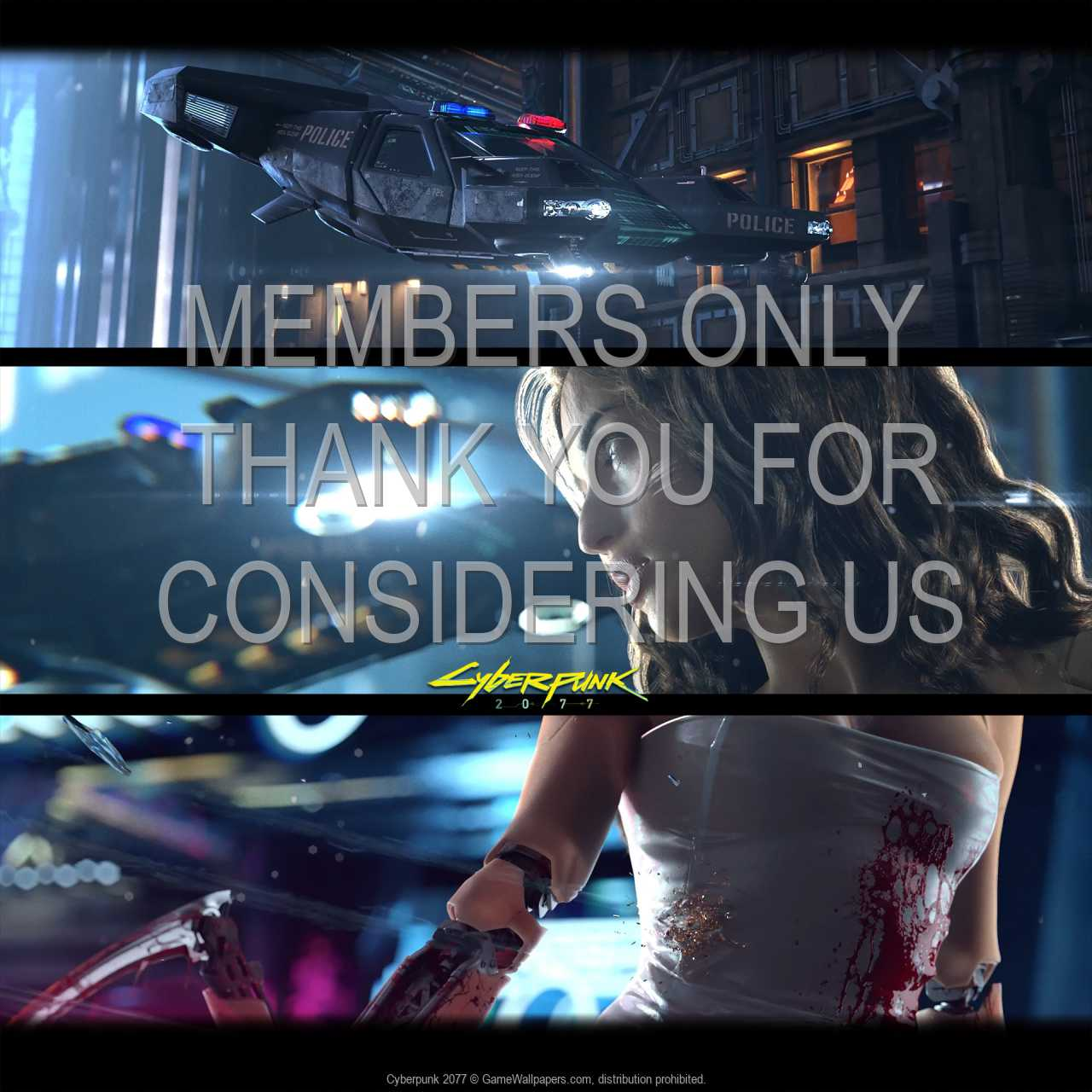 Cyberpunk 2077 720p Horizontal Mobile fond d'écran 03