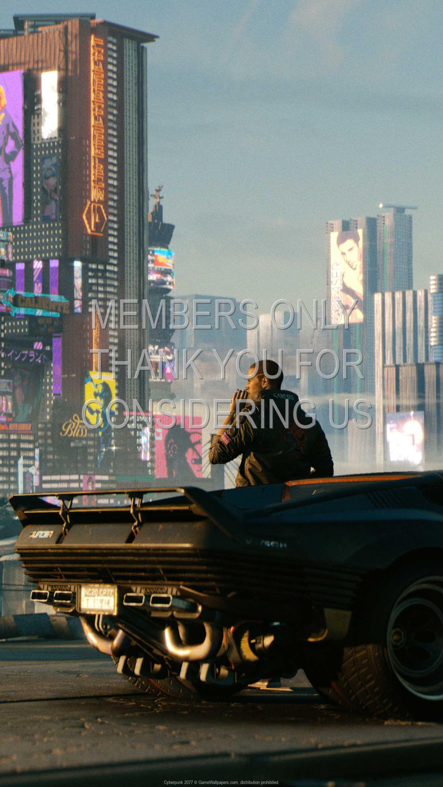 Cyberpunk 2077 1440p Vertical Mobile fond d'écran 06
