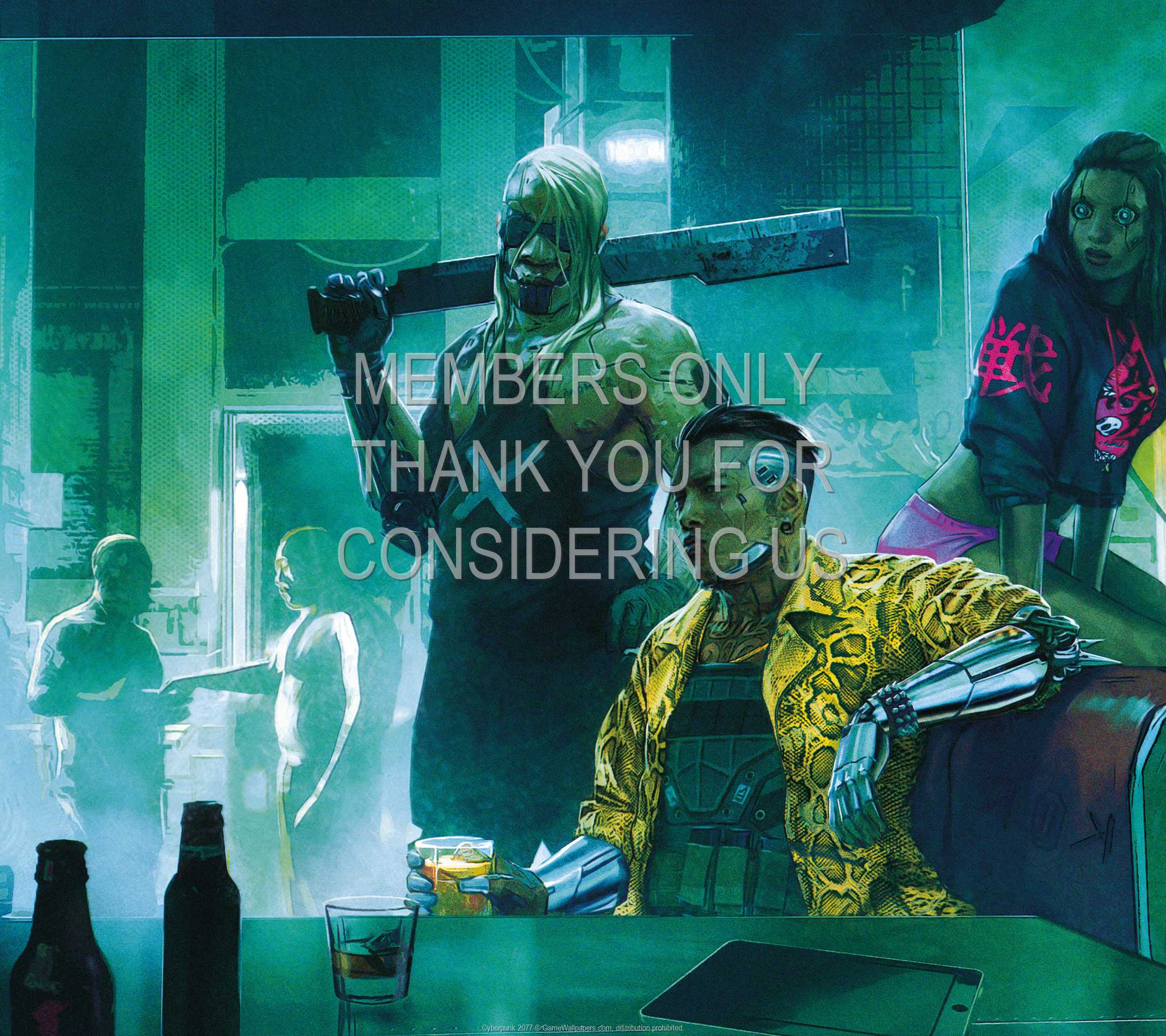 Cyberpunk 2077 1080p Horizontal Mobiele achtergrond 07