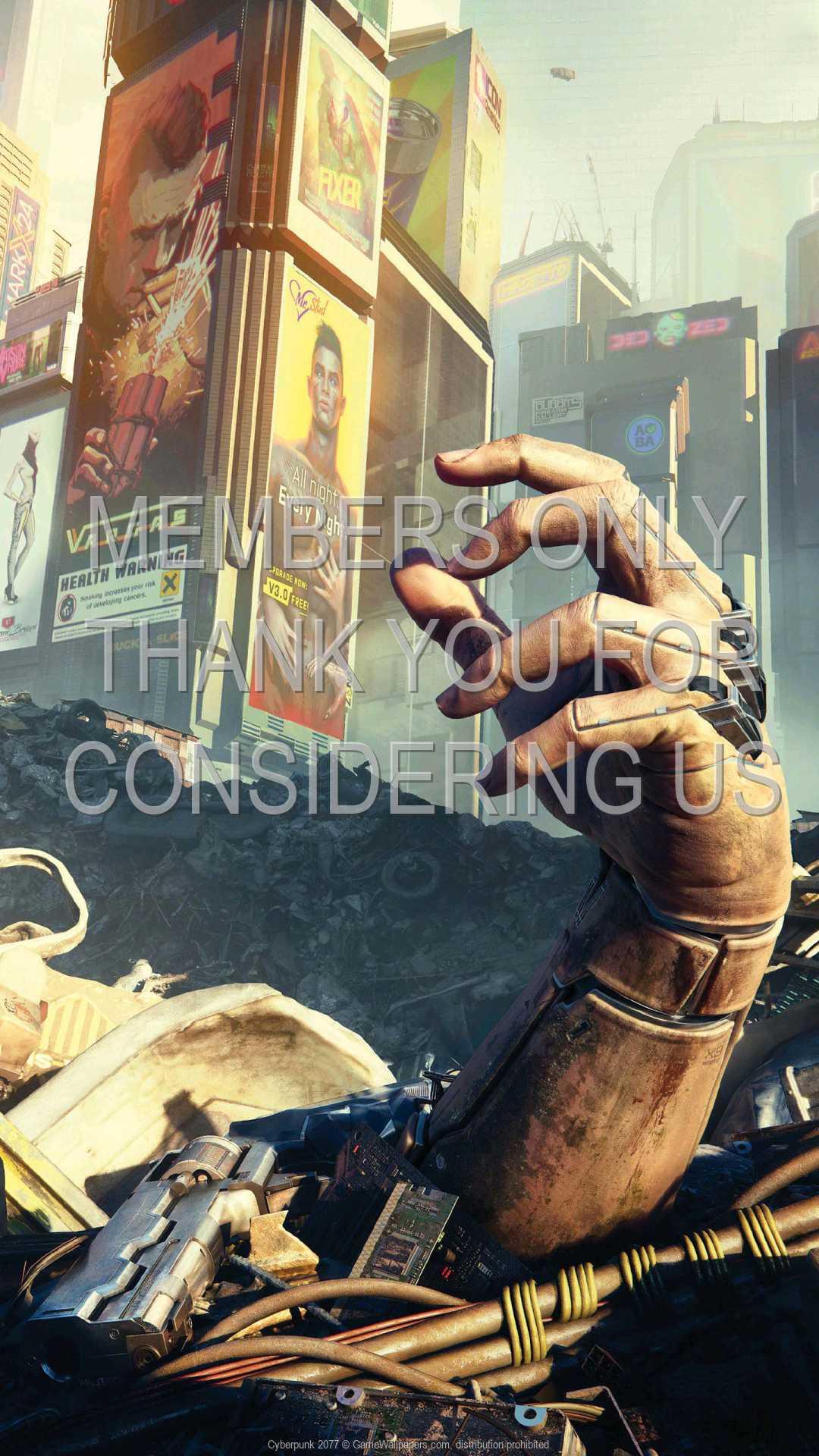 Cyberpunk 2077 1080p Vertical Handy Hintergrundbild 25