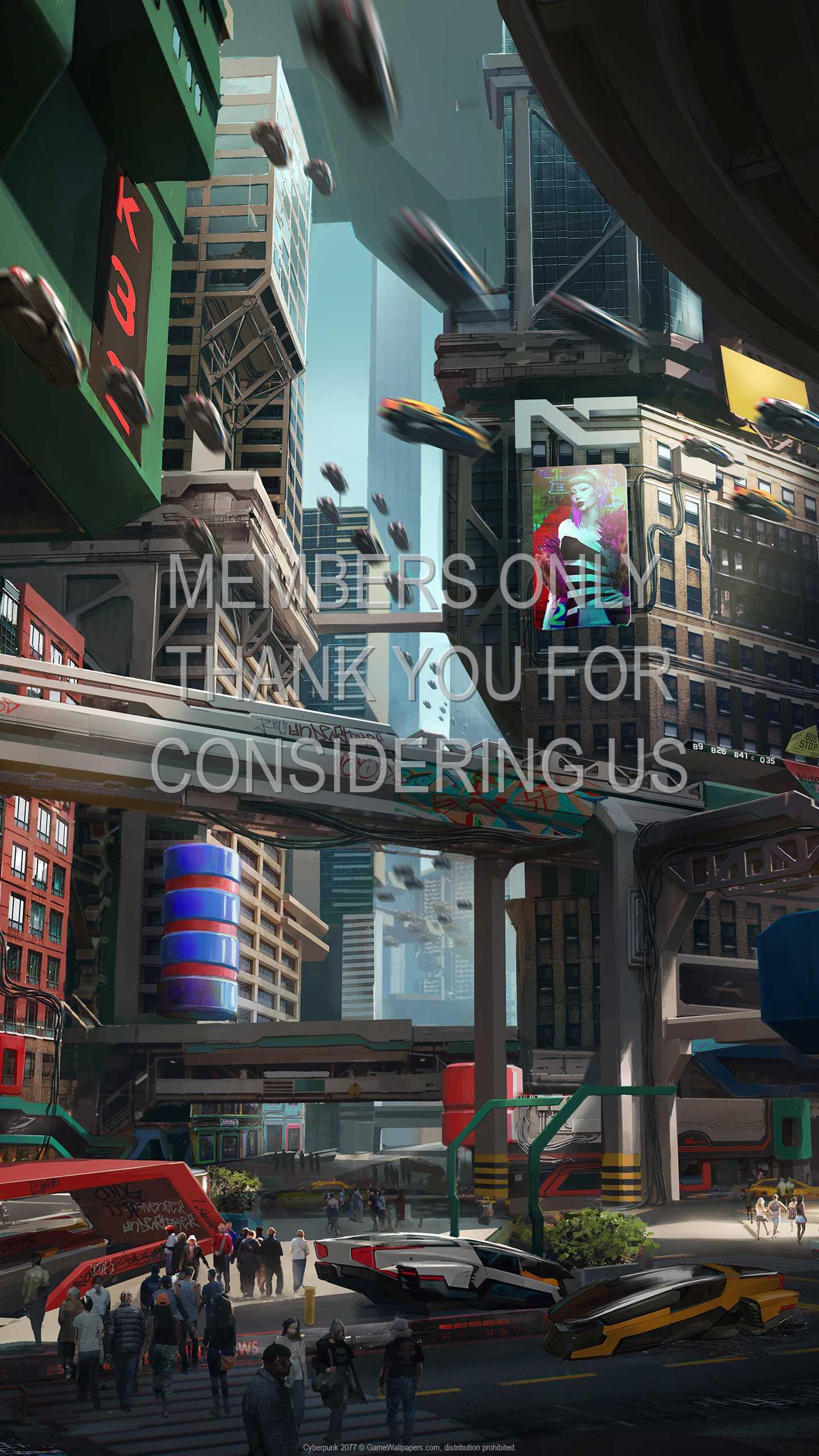Cyberpunk 2077 1440p Vertical Mobile fond d'écran 32