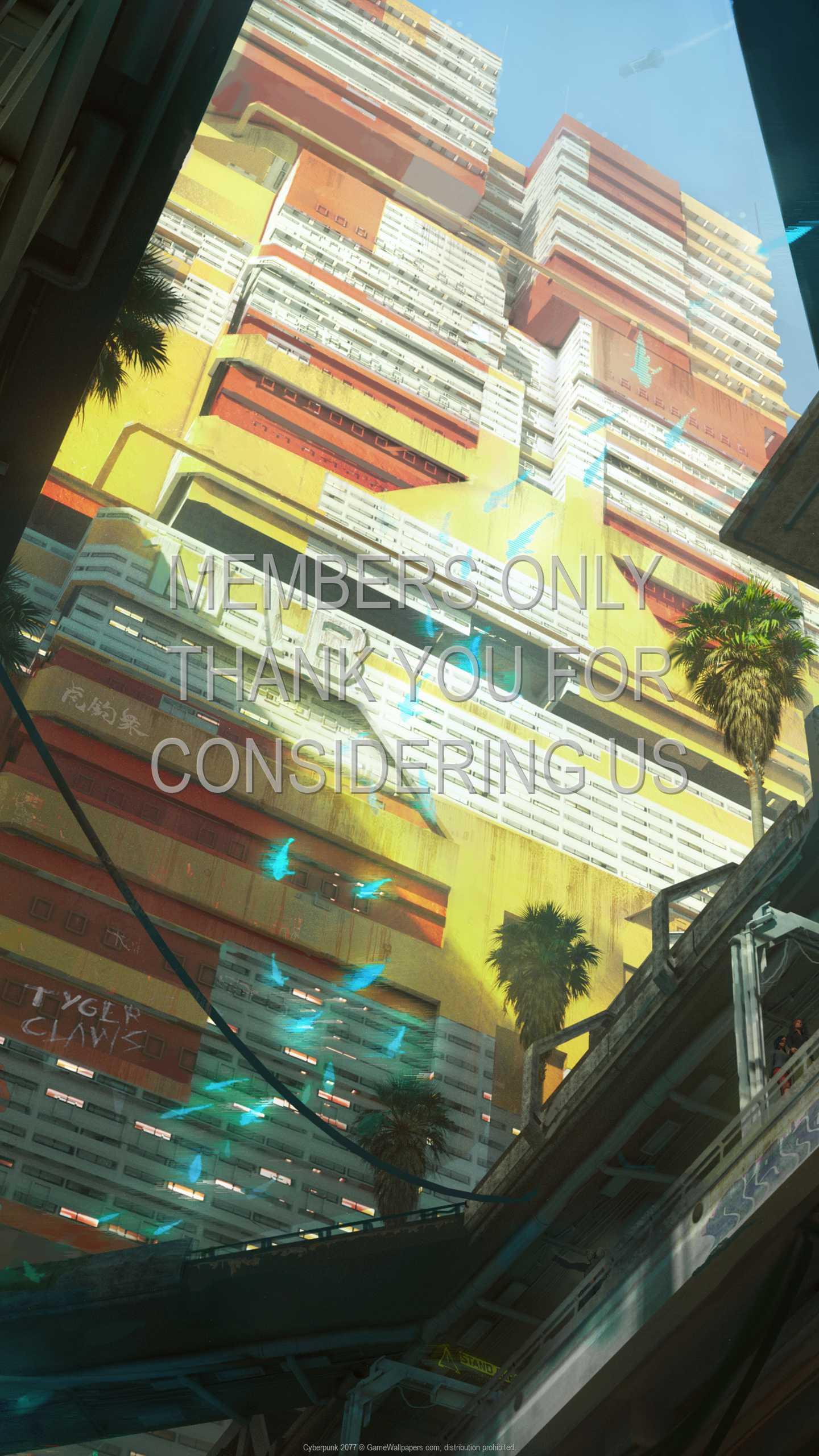 Cyberpunk 2077 1440p Vertical Mobile fond d'écran 34