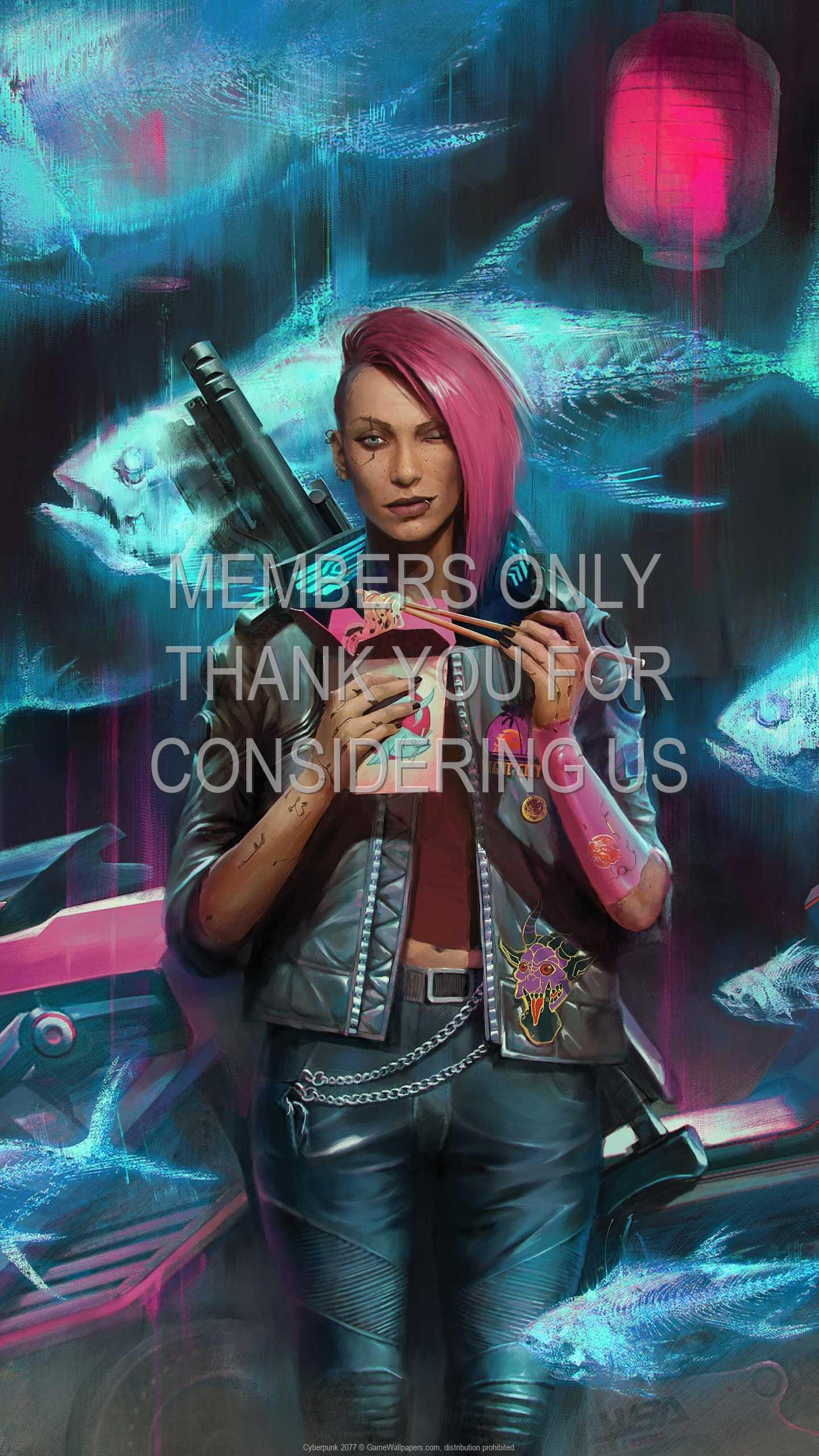 Cyberpunk 2077 1440p Vertical Mobiele achtergrond 41