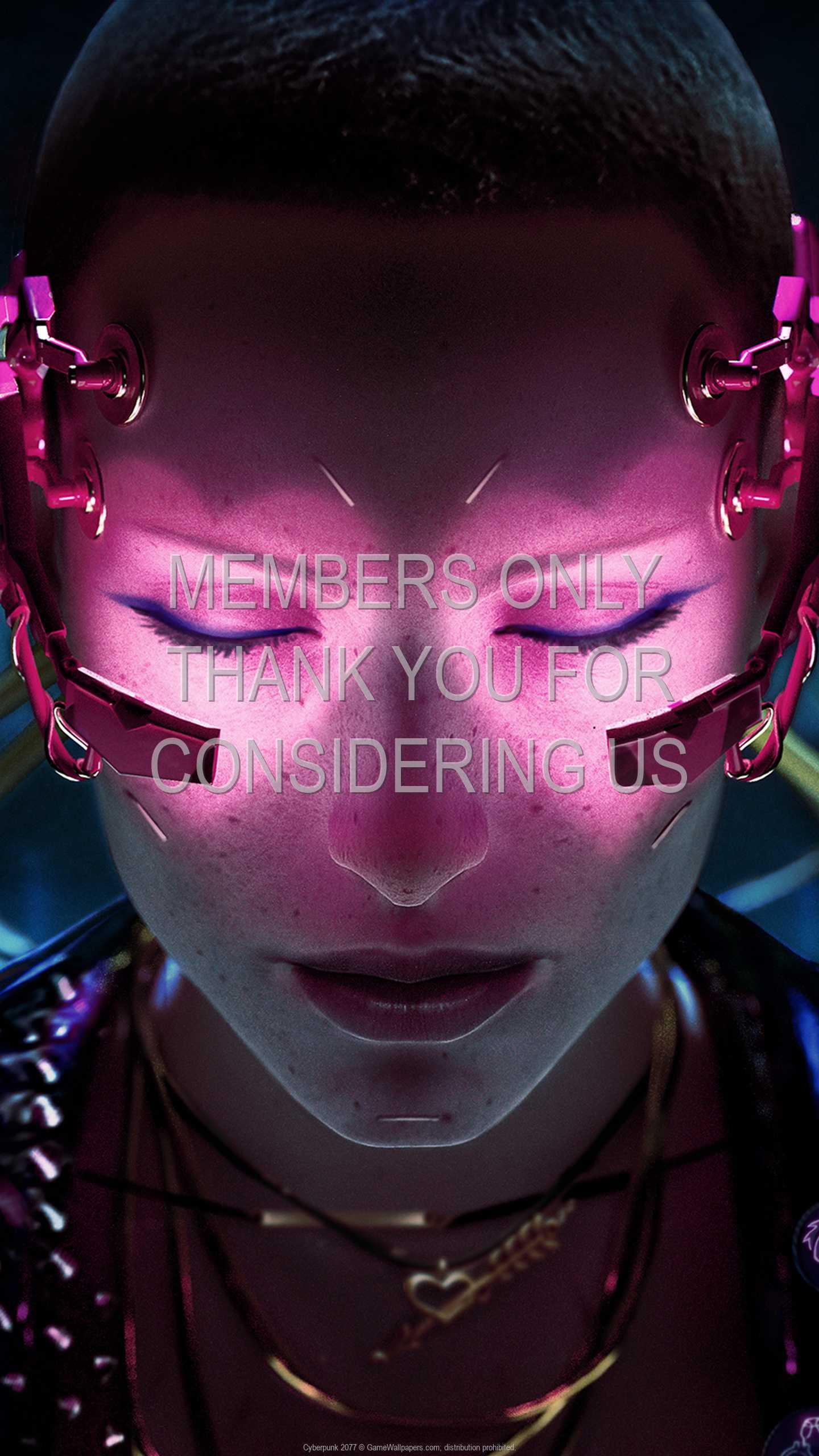 Cyberpunk 2077 1440p Vertical Handy Hintergrundbild 49