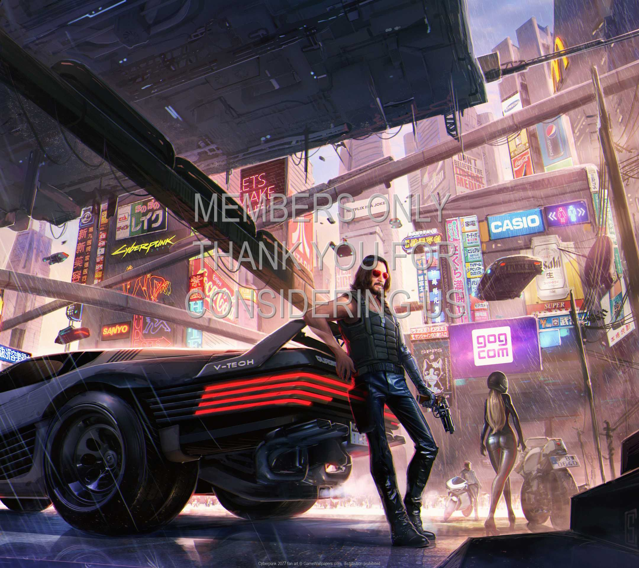 Cyberpunk 2077 fan art 1080p Horizontal Mobile wallpaper or background 04