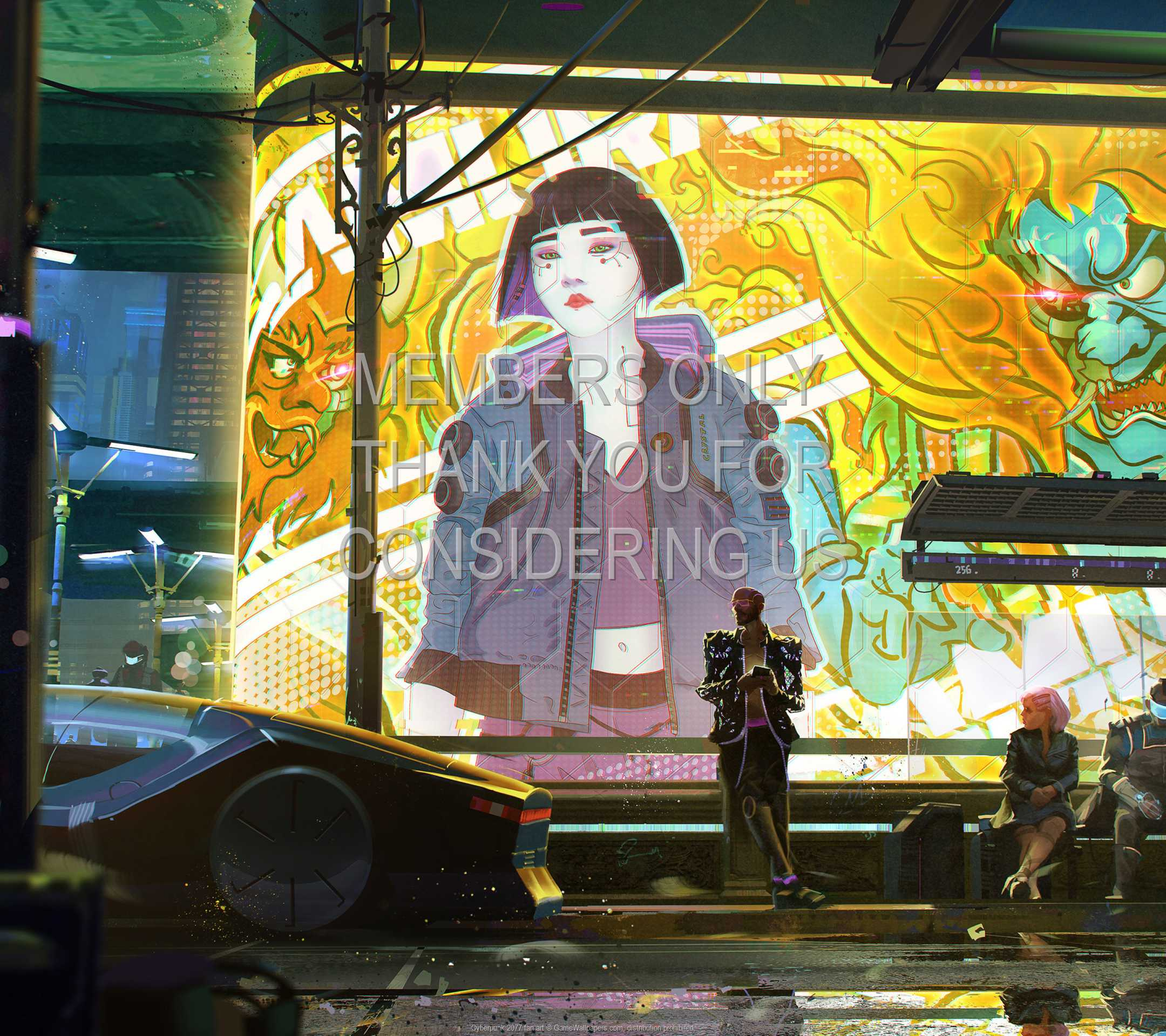 Cyberpunk 2077 fan art 1080p Horizontal Móvil fondo de escritorio 05