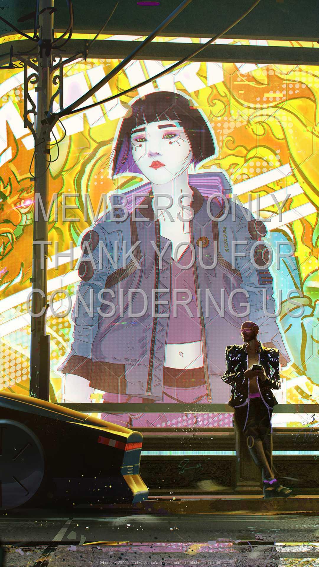 Cyberpunk 2077 fan art 1080p Vertical Mobile wallpaper or background 05