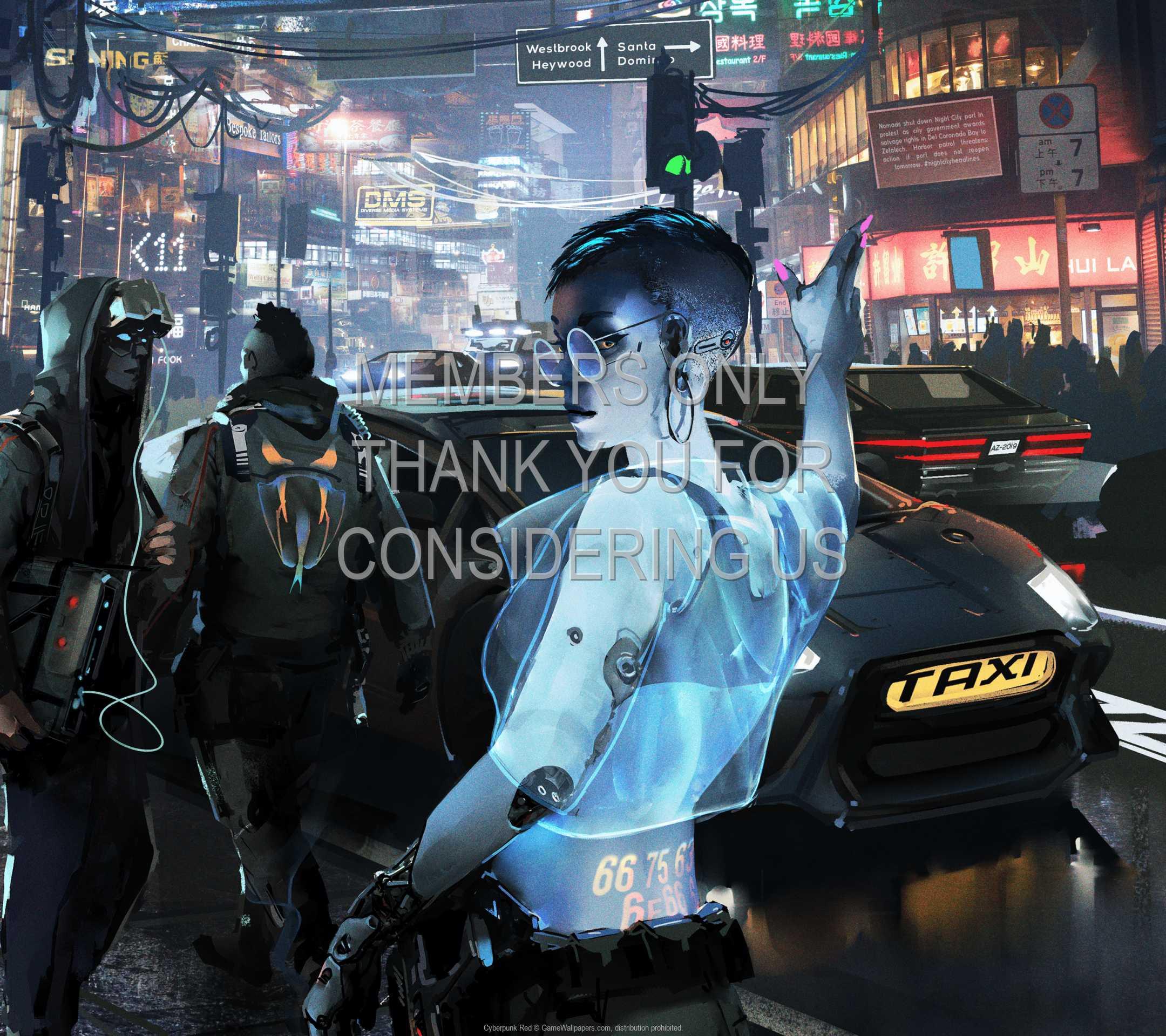 Cyberpunk Red 1080p Horizontal Mobiele achtergrond 01