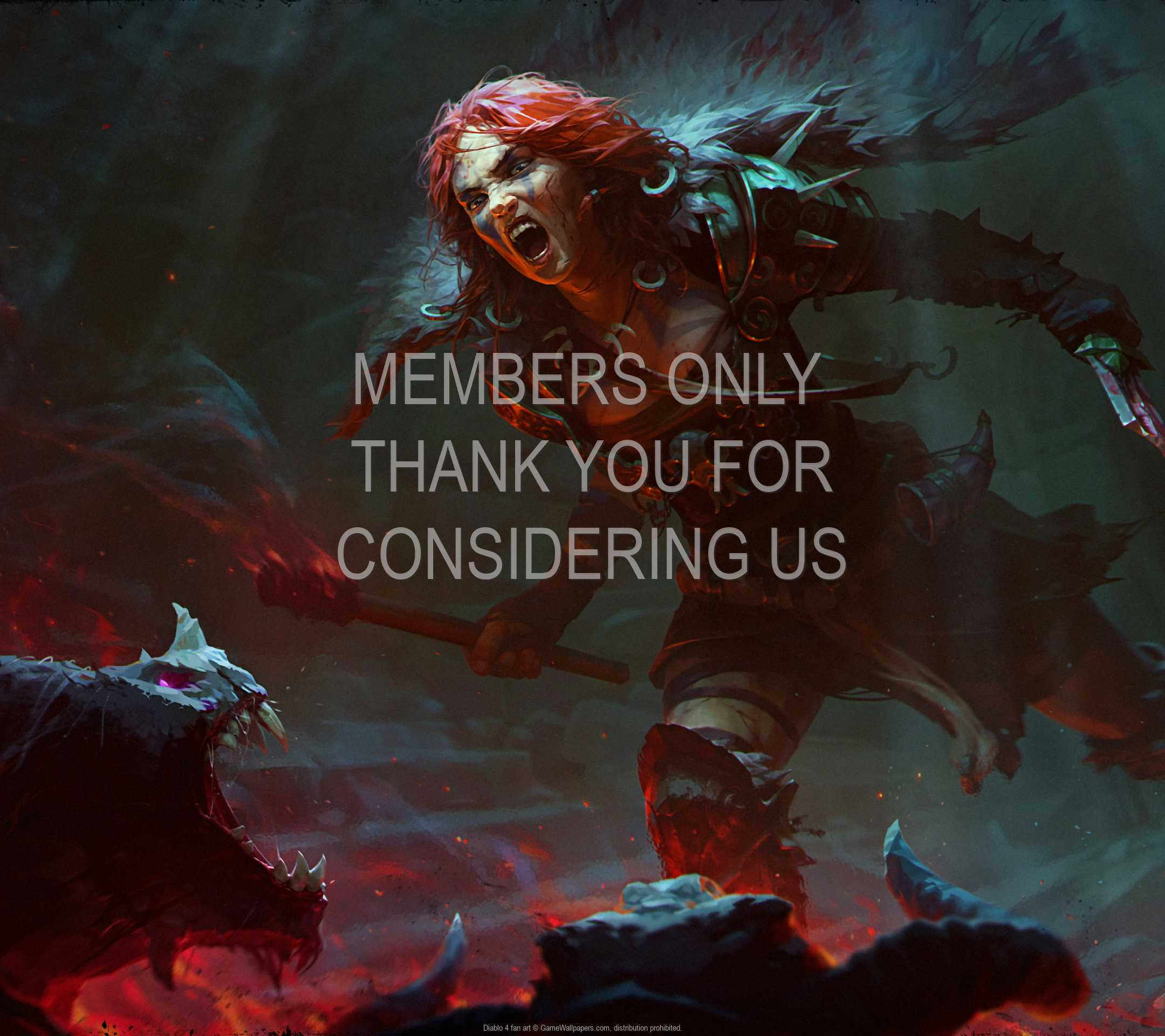 Diablo 4 fan art 1080p Horizontal Handy Hintergrundbild 01