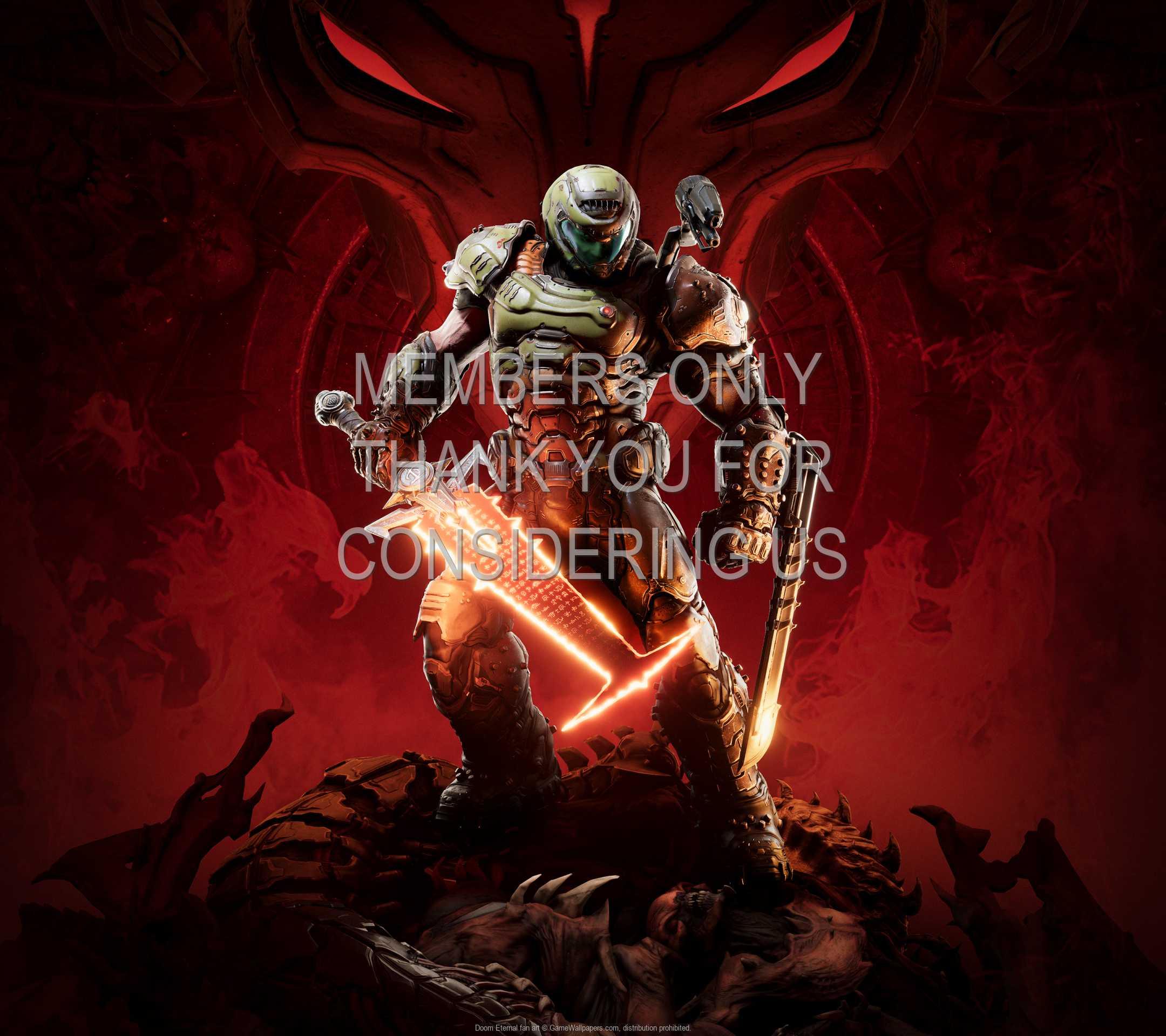 Doom Eternal fan art 1080p Horizontal Mobiele achtergrond 01