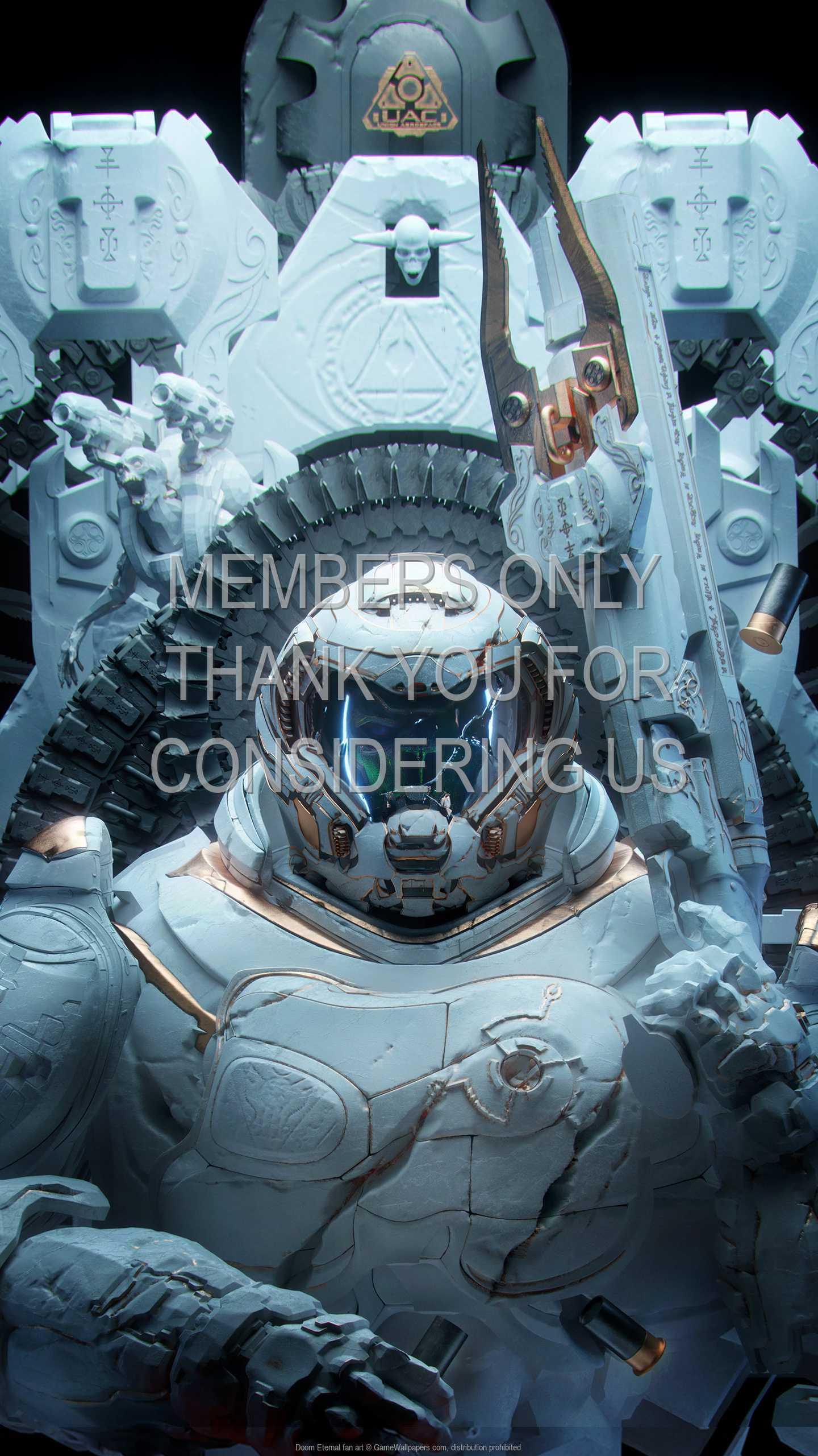 Doom Eternal fan art 1440p Vertical Mobile wallpaper or background 02