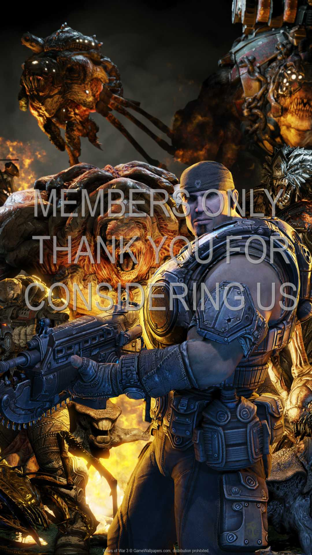Gears of War 3 1080p Vertical Handy Hintergrundbild 03