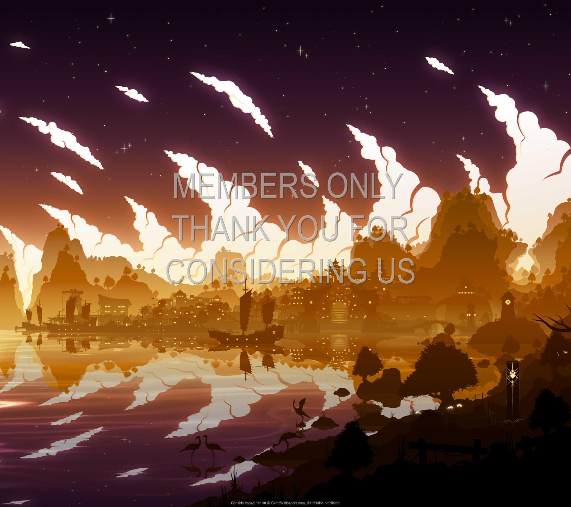 Genshin Impact fan art 1080p Horizontal Móvil fondo de escritorio 01