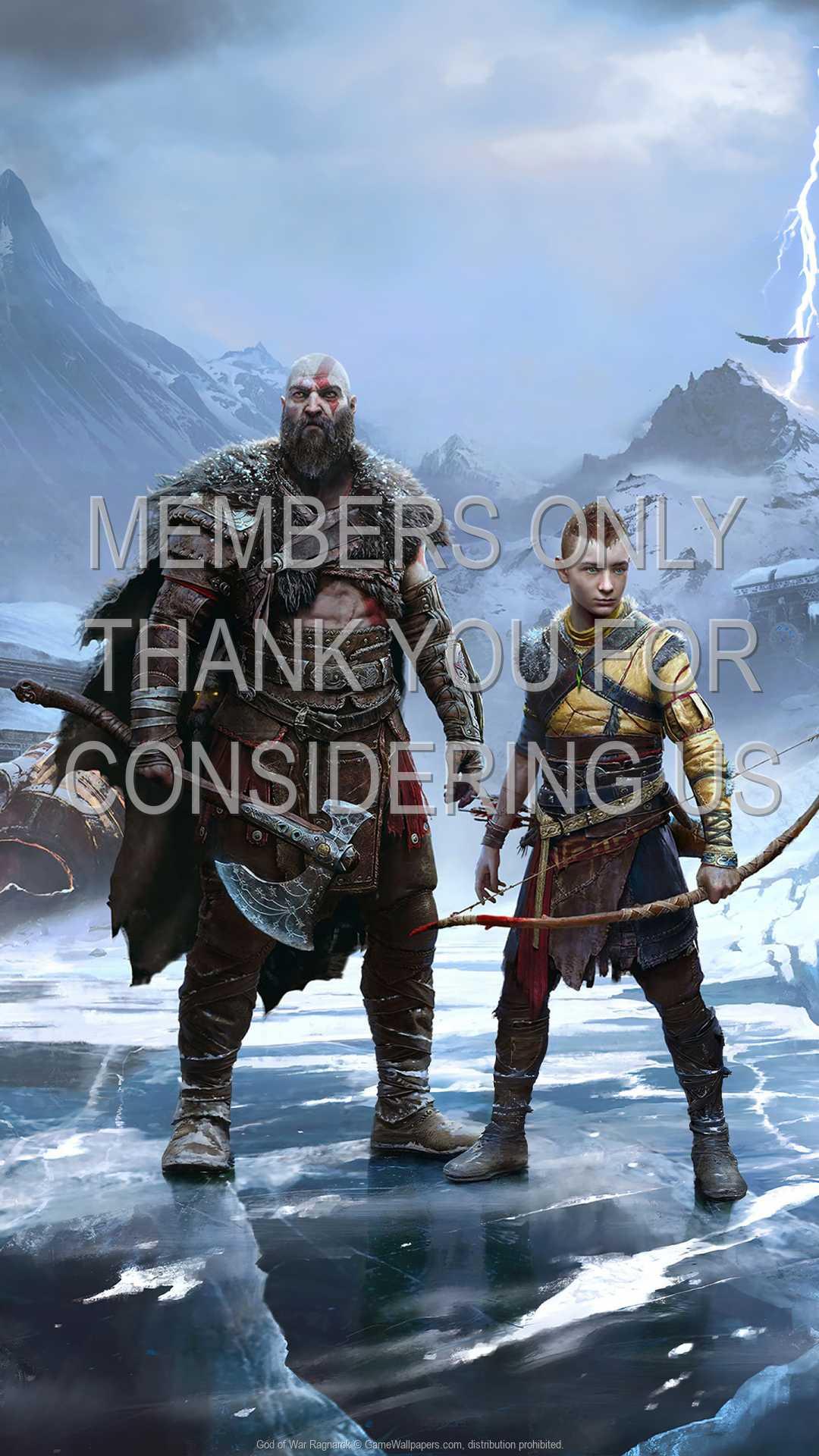God of War: Ragnarok 1080p Vertical Mobiele achtergrond 01