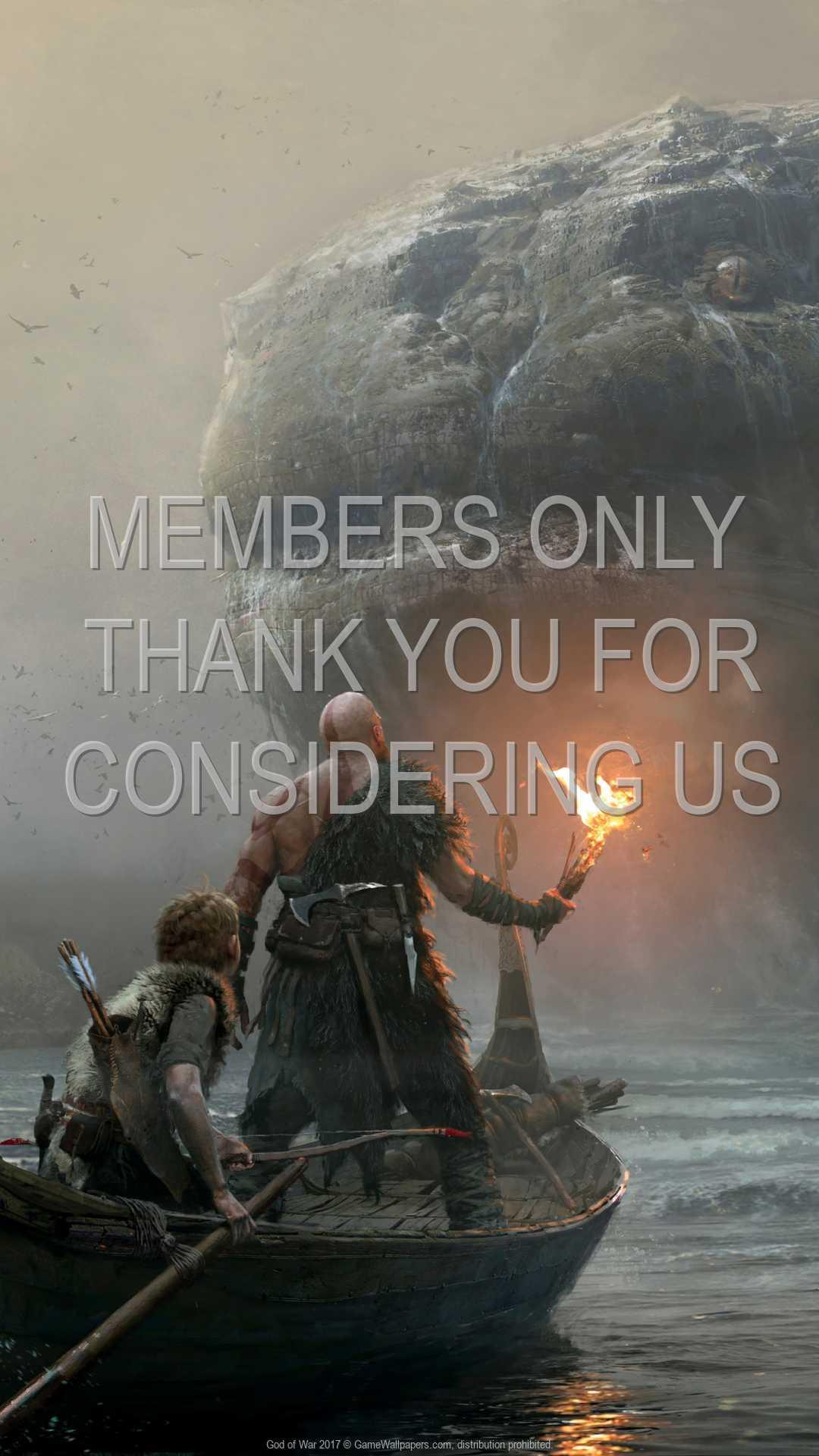 God of War 2017 1080p Vertical Mobile fond d'écran 09