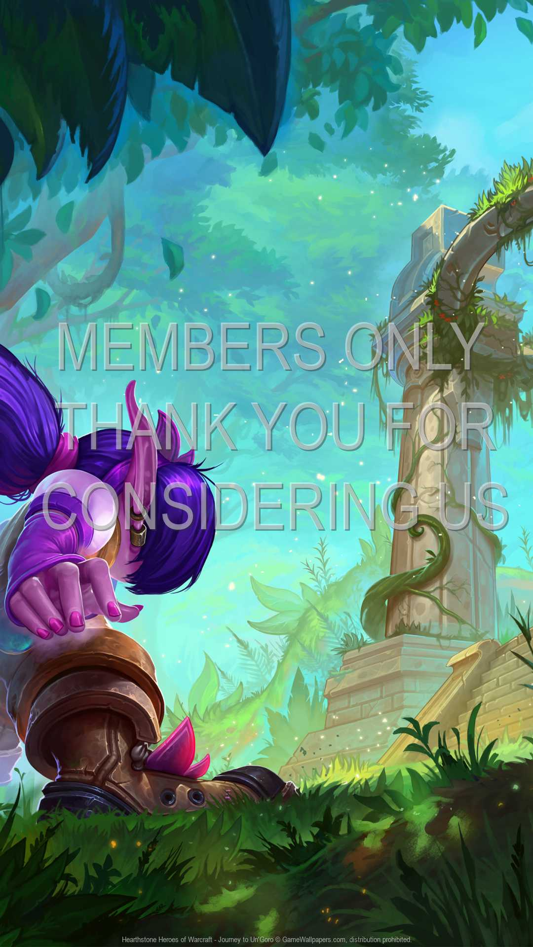Hearthstone: Heroes of Warcraft - Journey to Un'Goro 1080p Vertical Handy Hintergrundbild 03