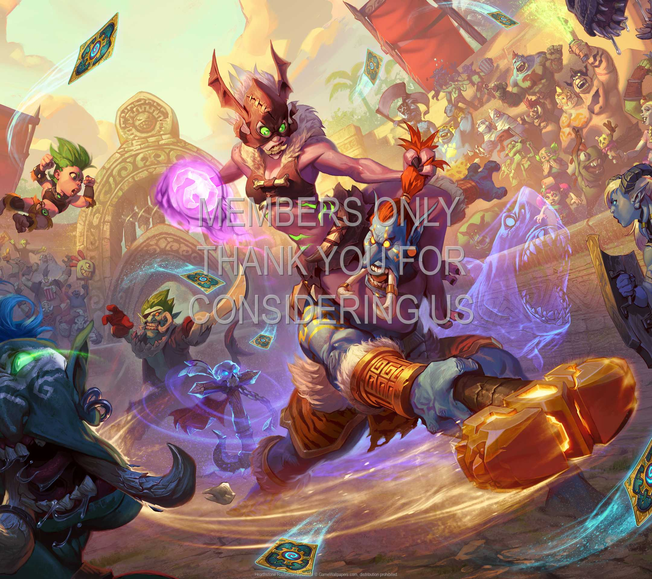 Hearthstone: Rastakhan's Rumble 1080p Horizontal Mobile wallpaper or background 01