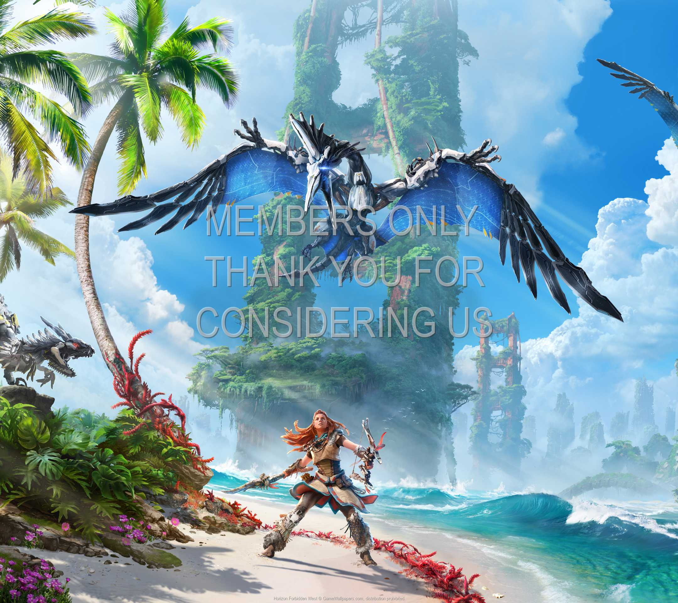 Horizon: Forbidden West 1080p Horizontal Mobiele achtergrond 01