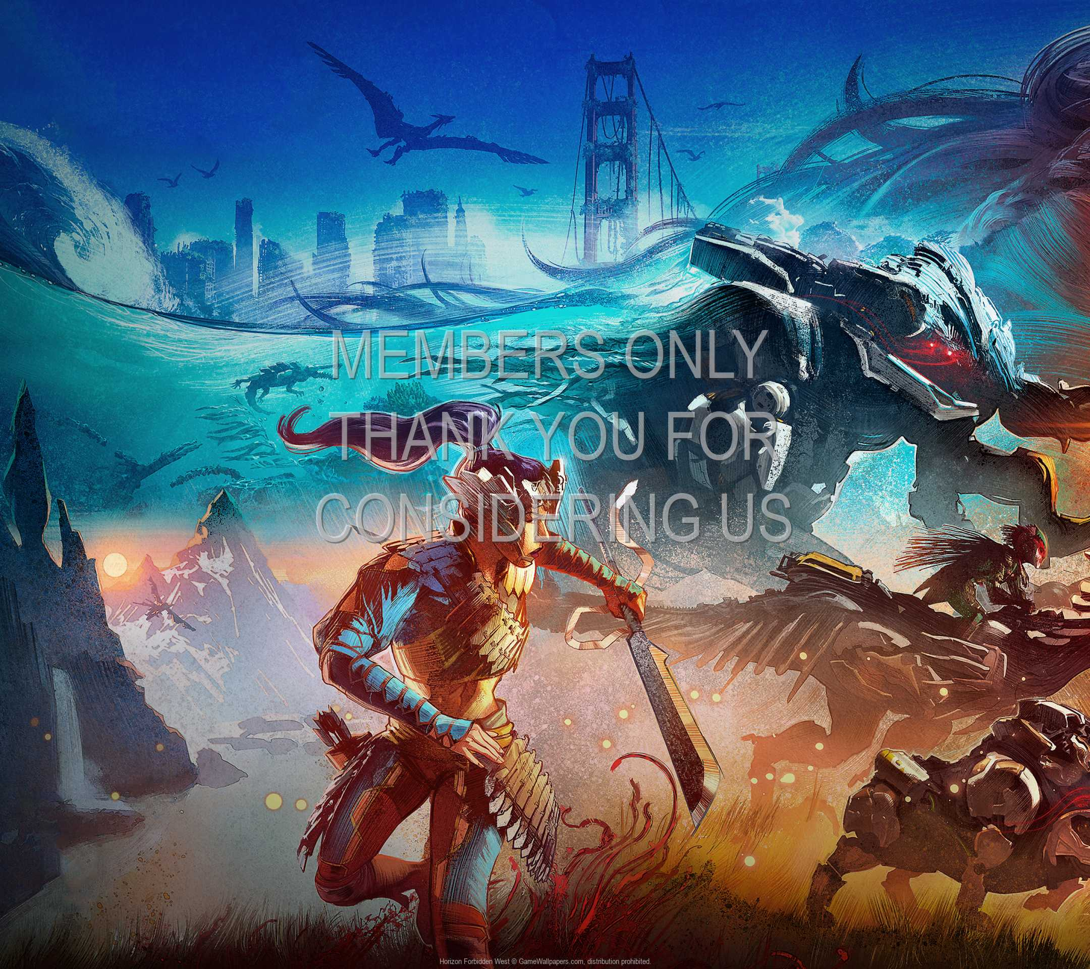 Horizon: Forbidden West 1080p Horizontal Mobile wallpaper or background 02