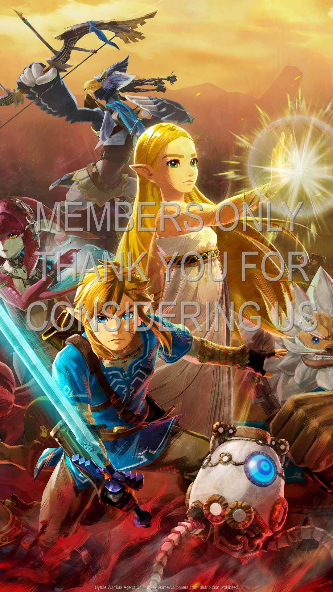 Hyrule Warriors: Age of Calamity 1080p Vertical Mobile wallpaper or background 01