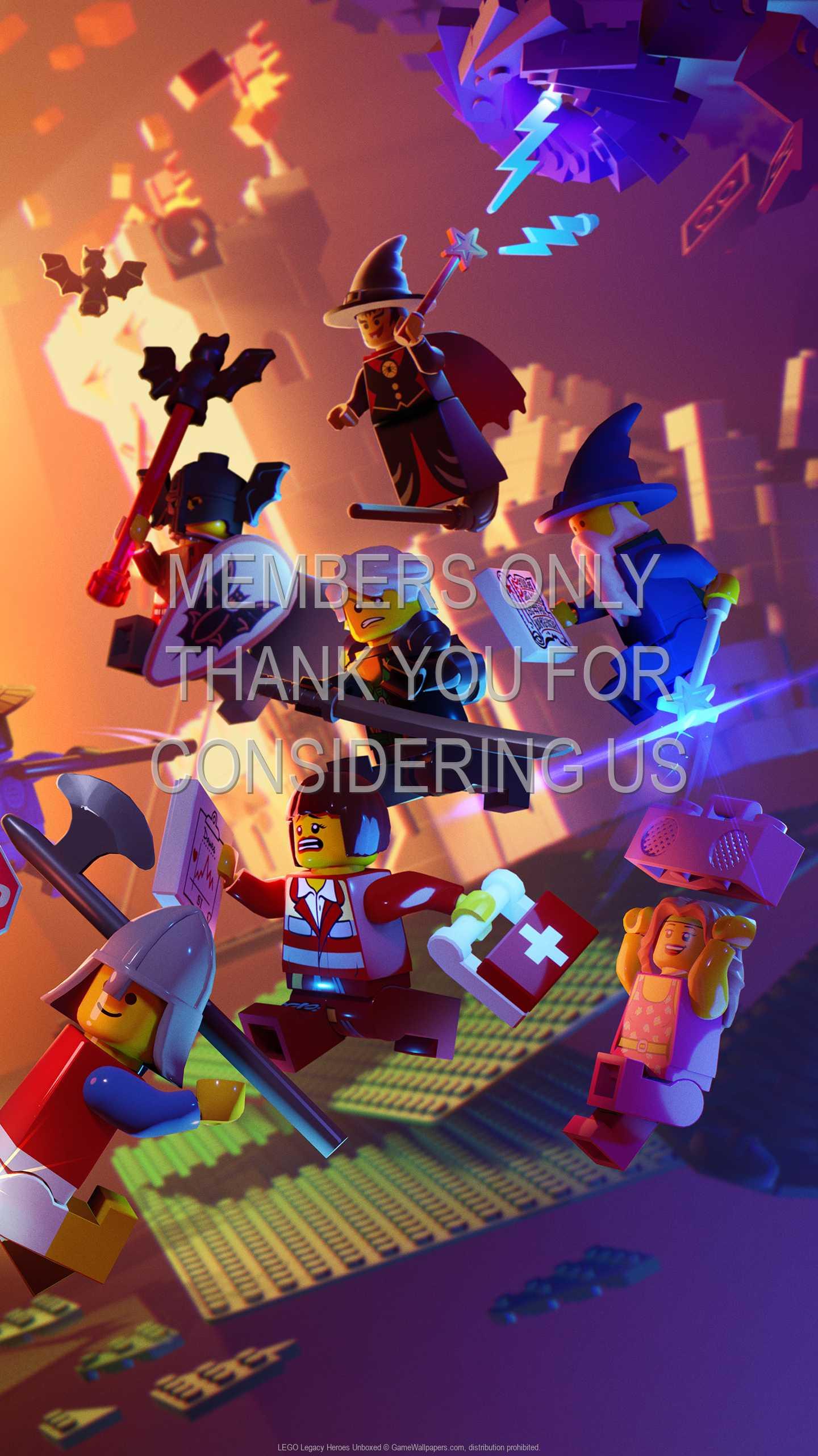 LEGO Legacy: Heroes Unboxed 1440p Vertical Mobile fond d'écran 01
