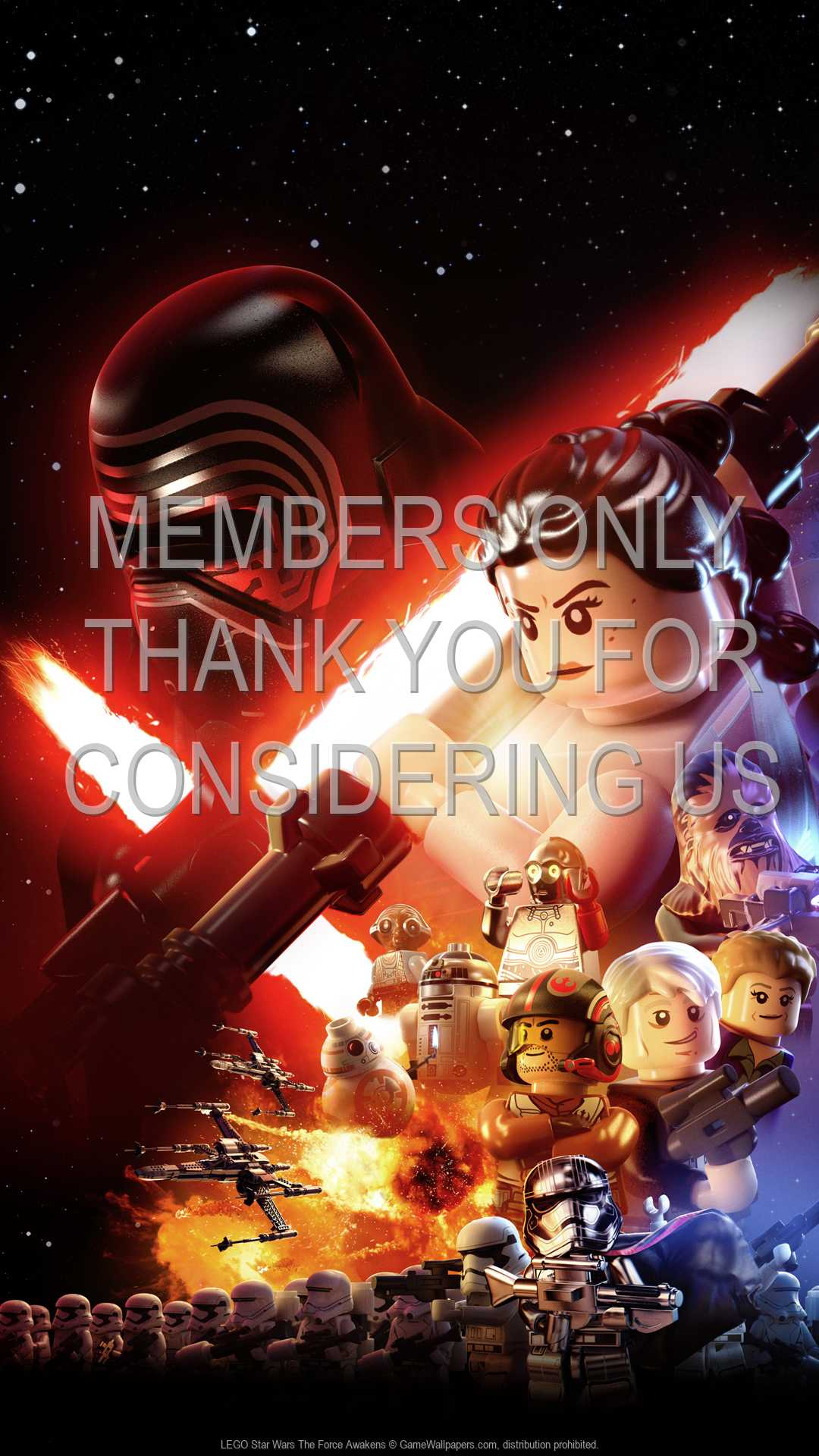 Lego Star Wars The Force Awakens Wallpaper 01 1080p Vertical