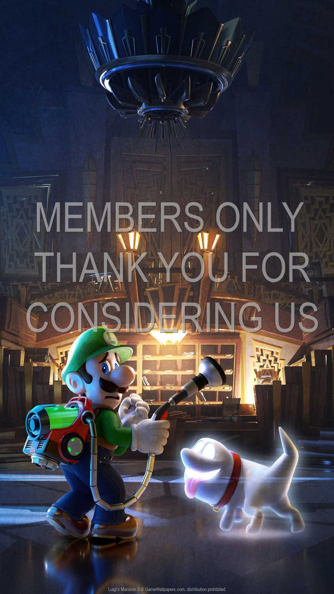 Luigi's Mansion 3 1080p Vertical Handy Hintergrundbild 02