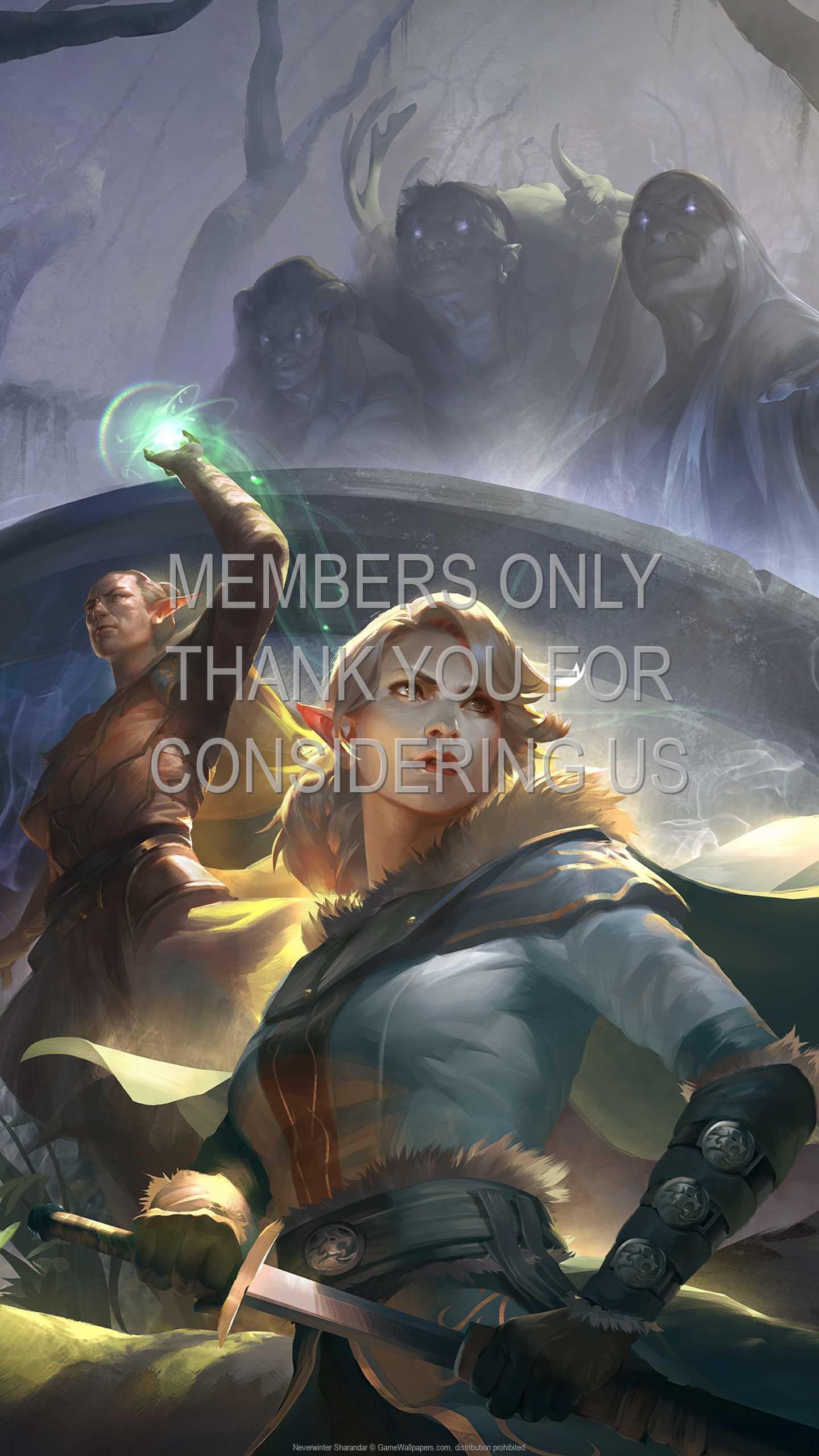Neverwinter: Sharandar 1440p Vertical Handy Hintergrundbild 01
