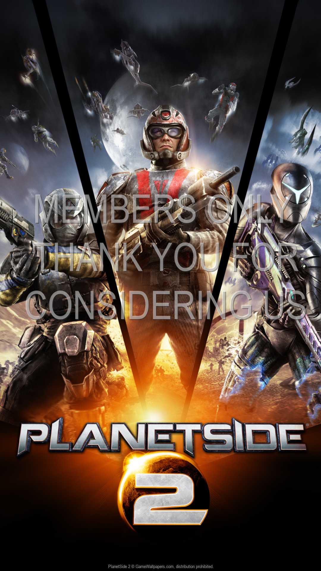 PlanetSide 2 1080p Vertical Móvil fondo de escritorio 03