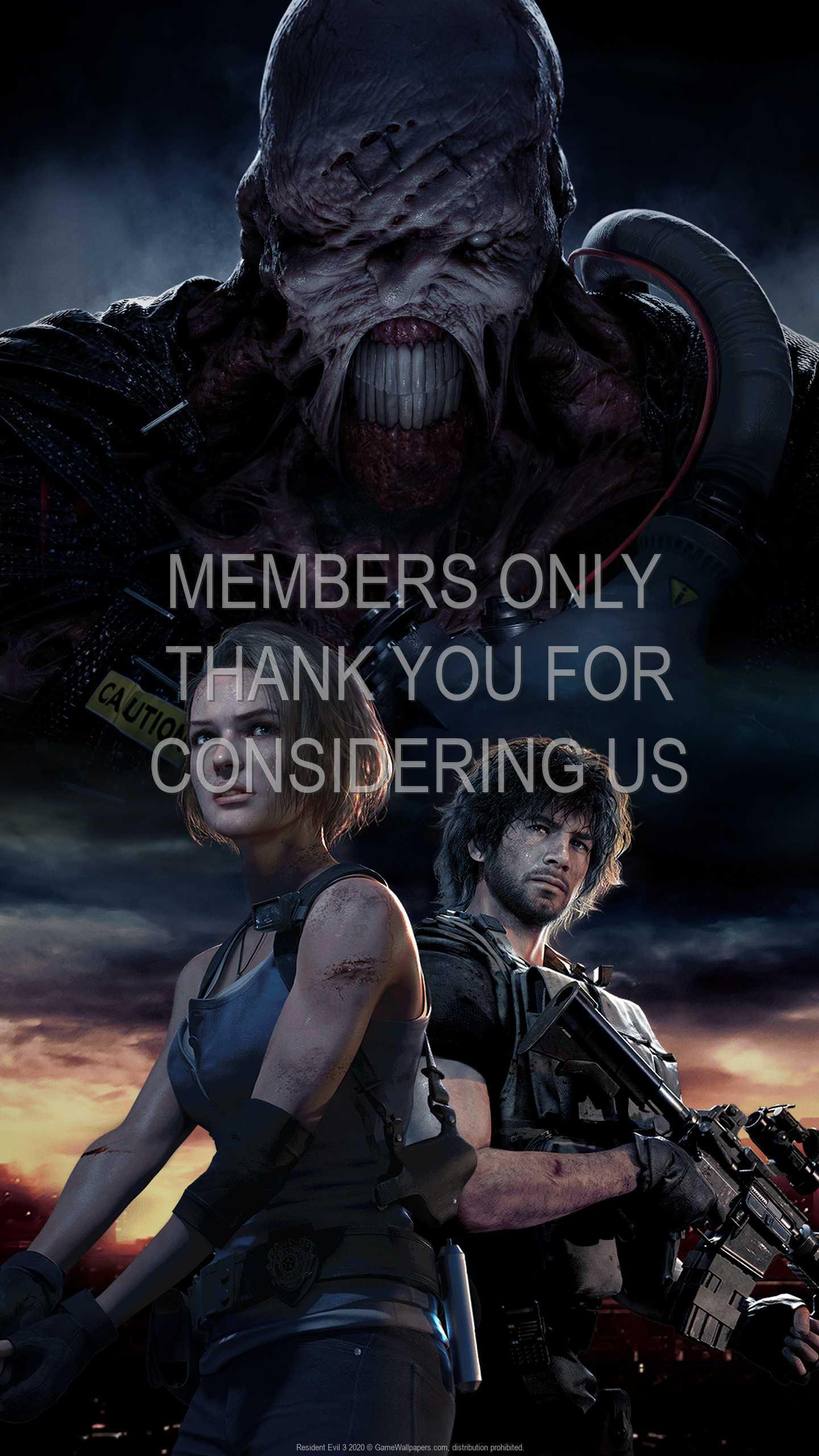 Resident Evil 3 2020 1440p Vertical Handy Hintergrundbild 01