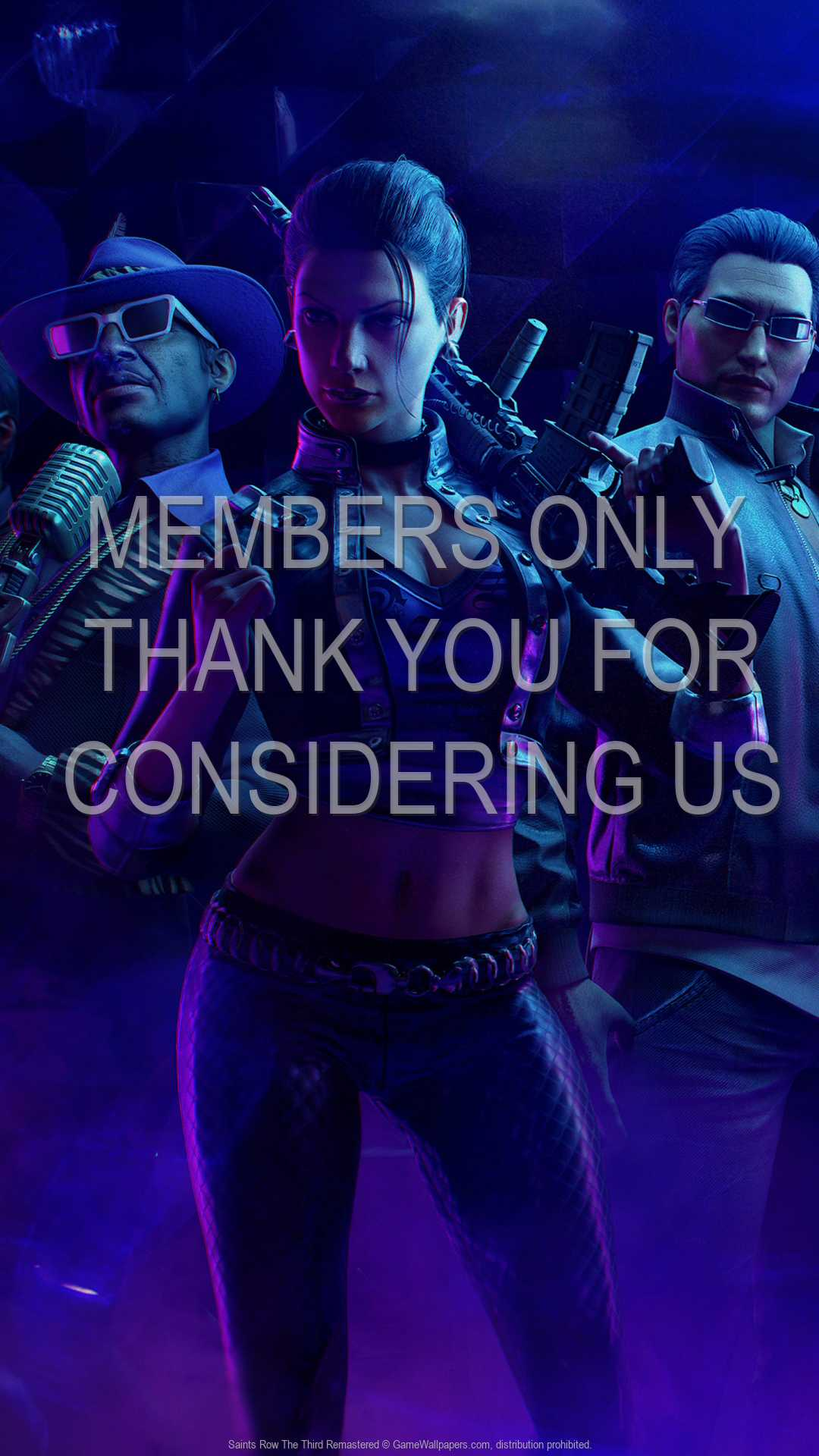 Saints Row: The Third Remastered 1080p Vertical Mobiele achtergrond 01