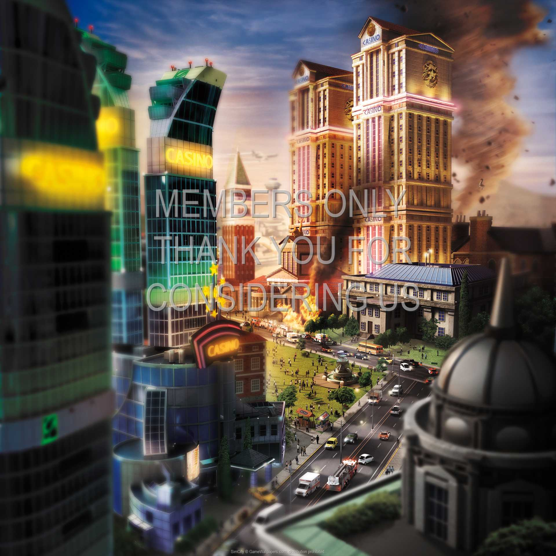 SimCity 1080p Horizontal Handy Hintergrundbild 04