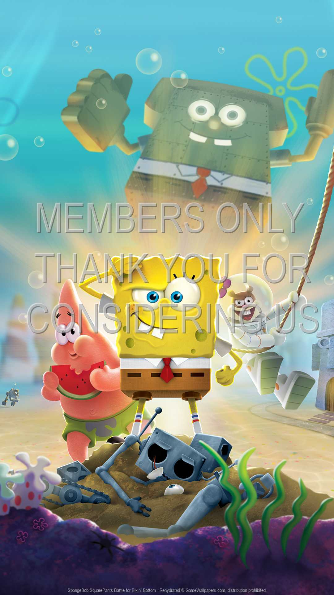 SpongeBob SquarePants: Battle for Bikini Bottom - Rehydrated 1080p Vertical Handy Hintergrundbild 01