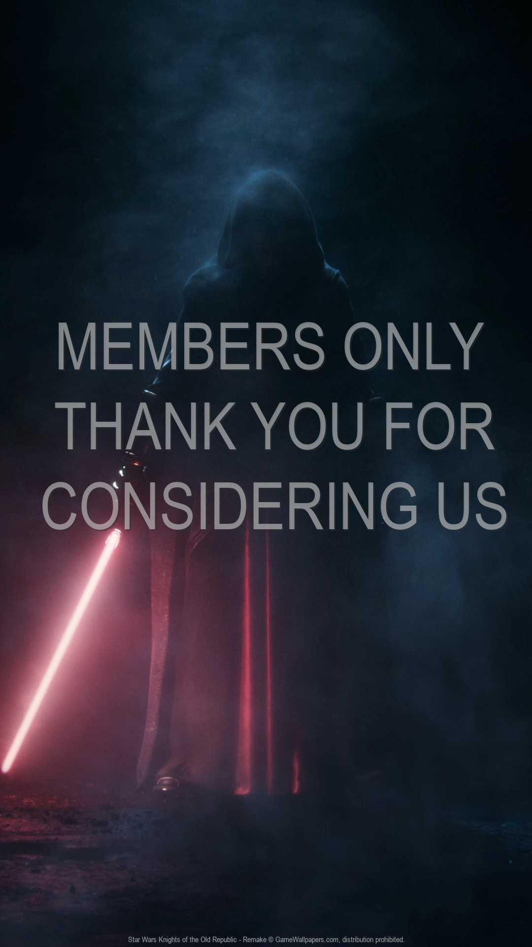 Star Wars: Knights of the Old Republic - Remake 1080p Vertical Móvil fondo de escritorio 01