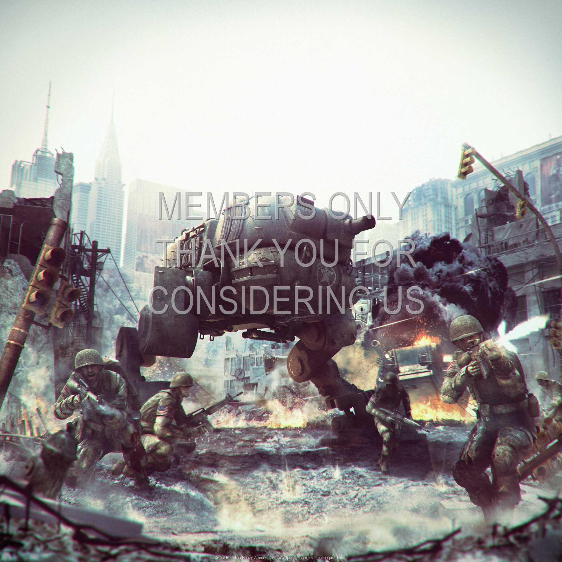Steel Battalion Heavy Armor 1080p Horizontal Handy Hintergrundbild 01