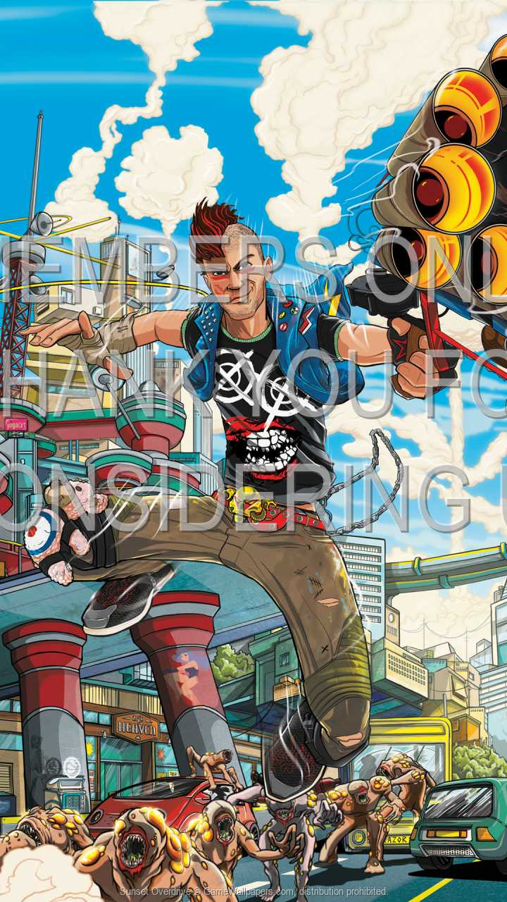 Sunset Overdrive 720p Vertical Handy Hintergrundbild 01