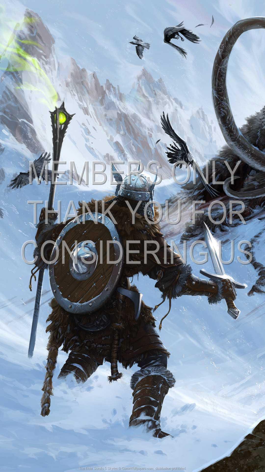 The Elder Scrolls 5: Skyrim 1080p Vertical Handy Hintergrundbild 02